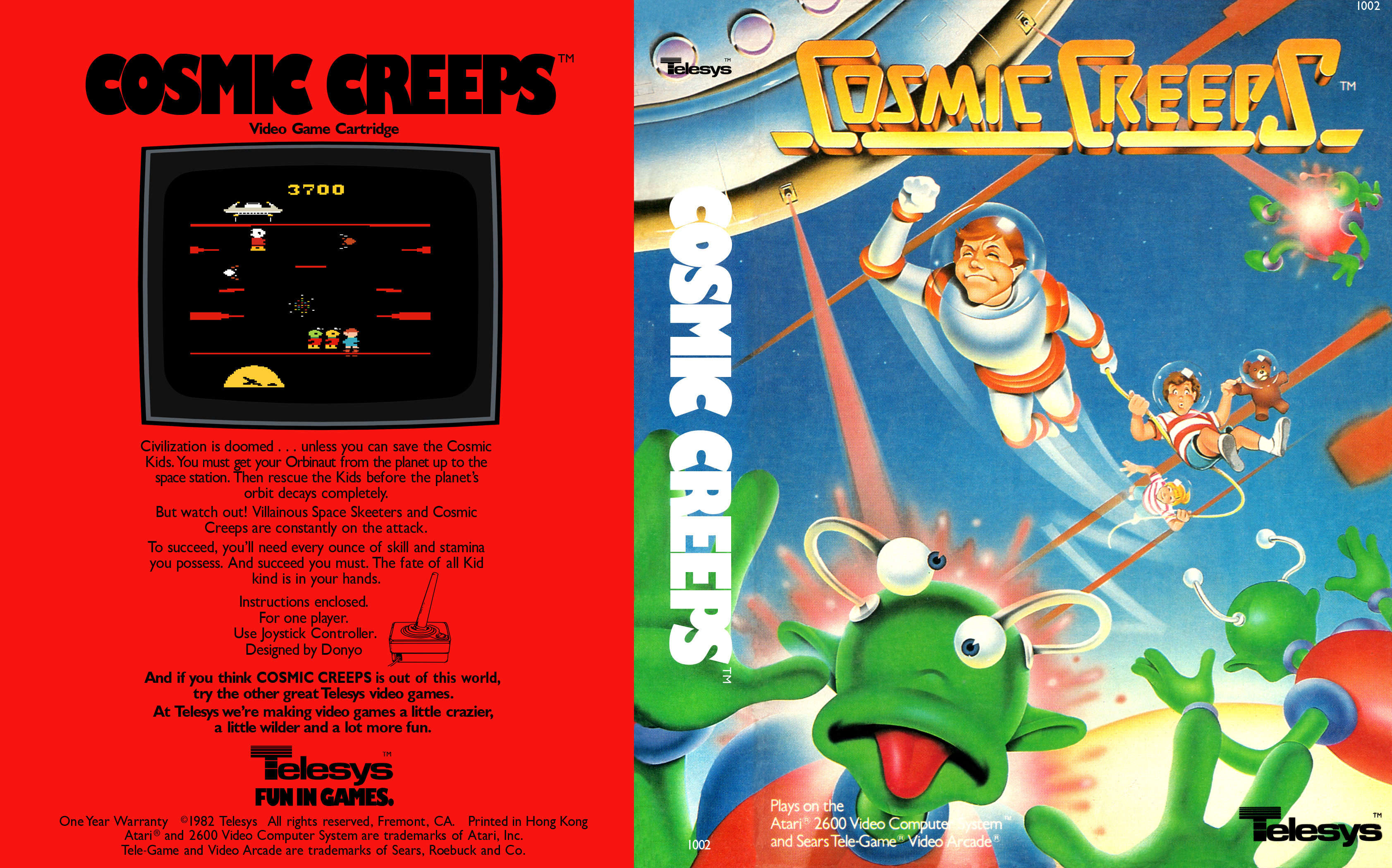 buying cheap good coupon codes Cosmic Creeps | Atari 2600 Covers | Cover Century | Over ...