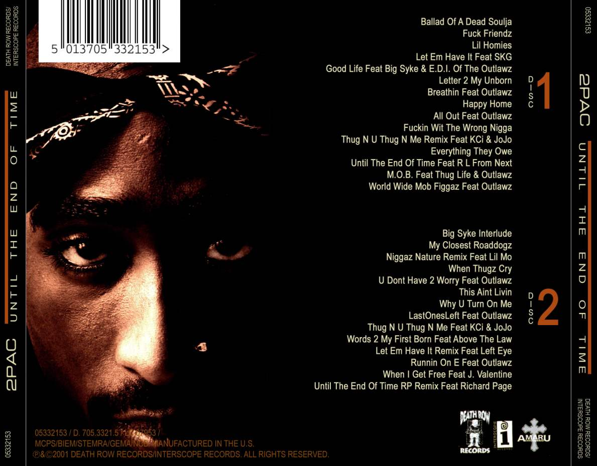 2pac Until The End Of Time B Cd Covers Cover Century Over