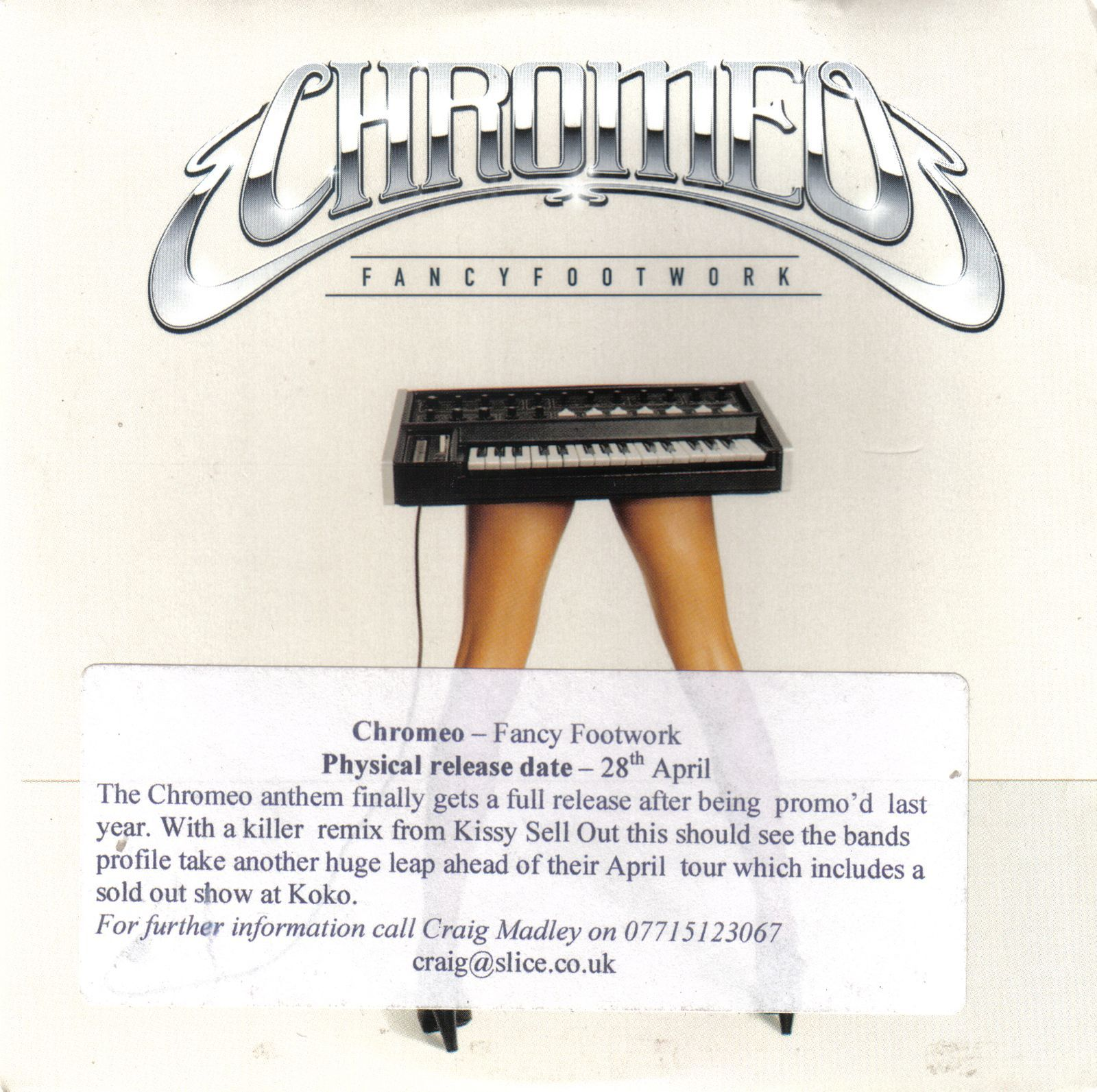 fancy footwork Listen to your favorite songs from fancy footwork: deluxe edition by chromeo now stream ad-free with amazon music unlimited on mobile, desktop, and tablet download our mobile app now.