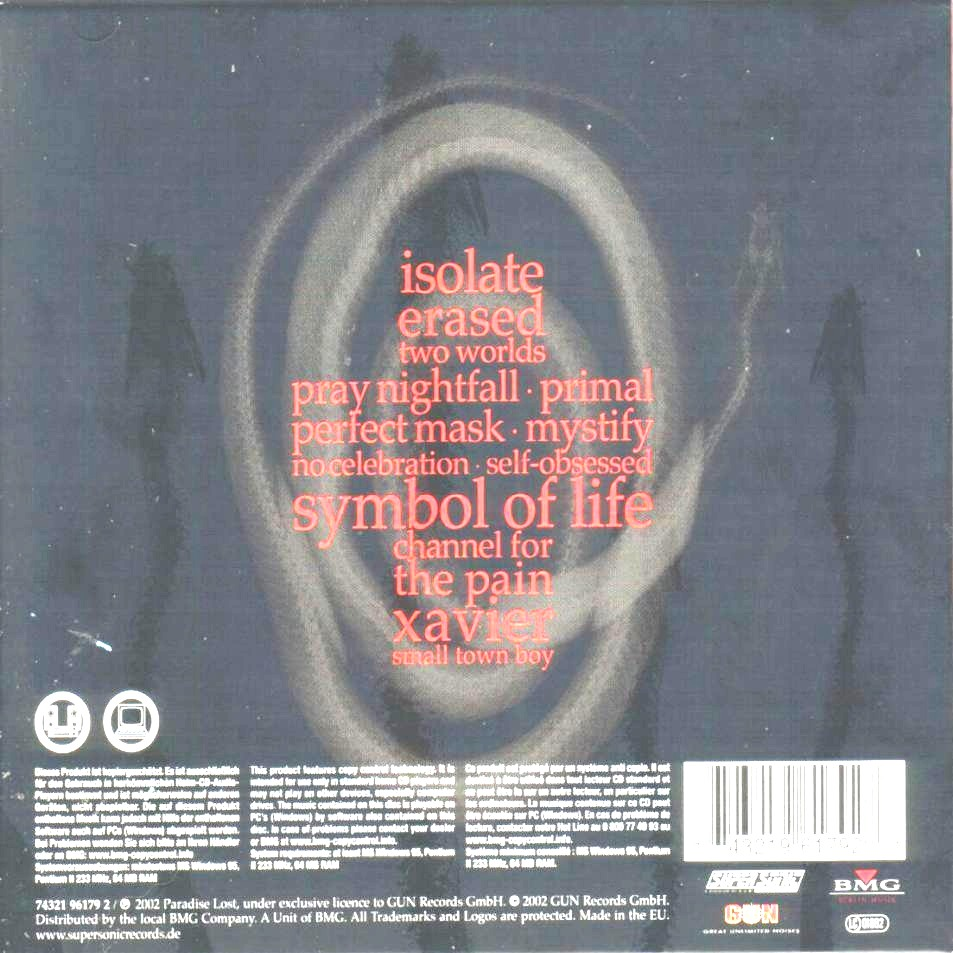 Paradise Lost Symbol Of Life Limited Edition Inlay Cd Covers