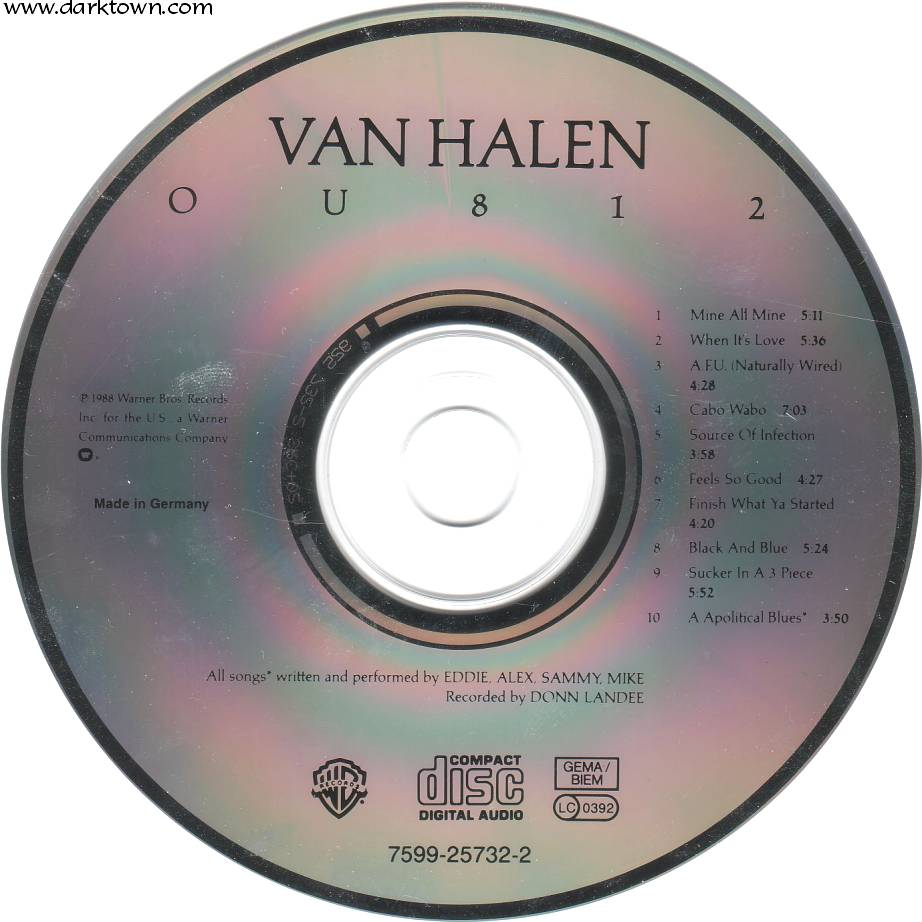 Van Halen Ou812 Cd Cd Covers Cover Century Over 500 000 Album Art Covers For Free