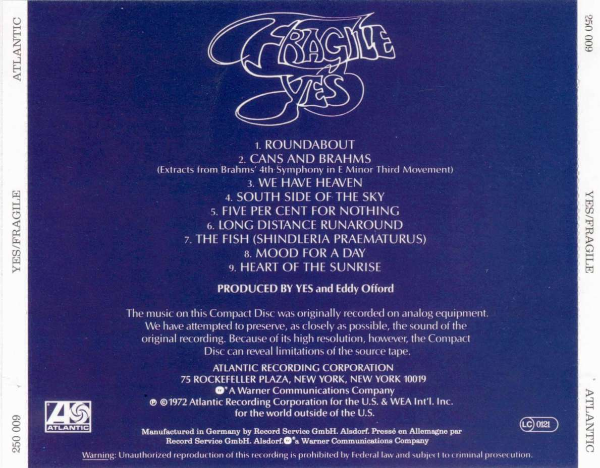 Yes Fragile Back   CD Covers   Cover Century   Over 500 000