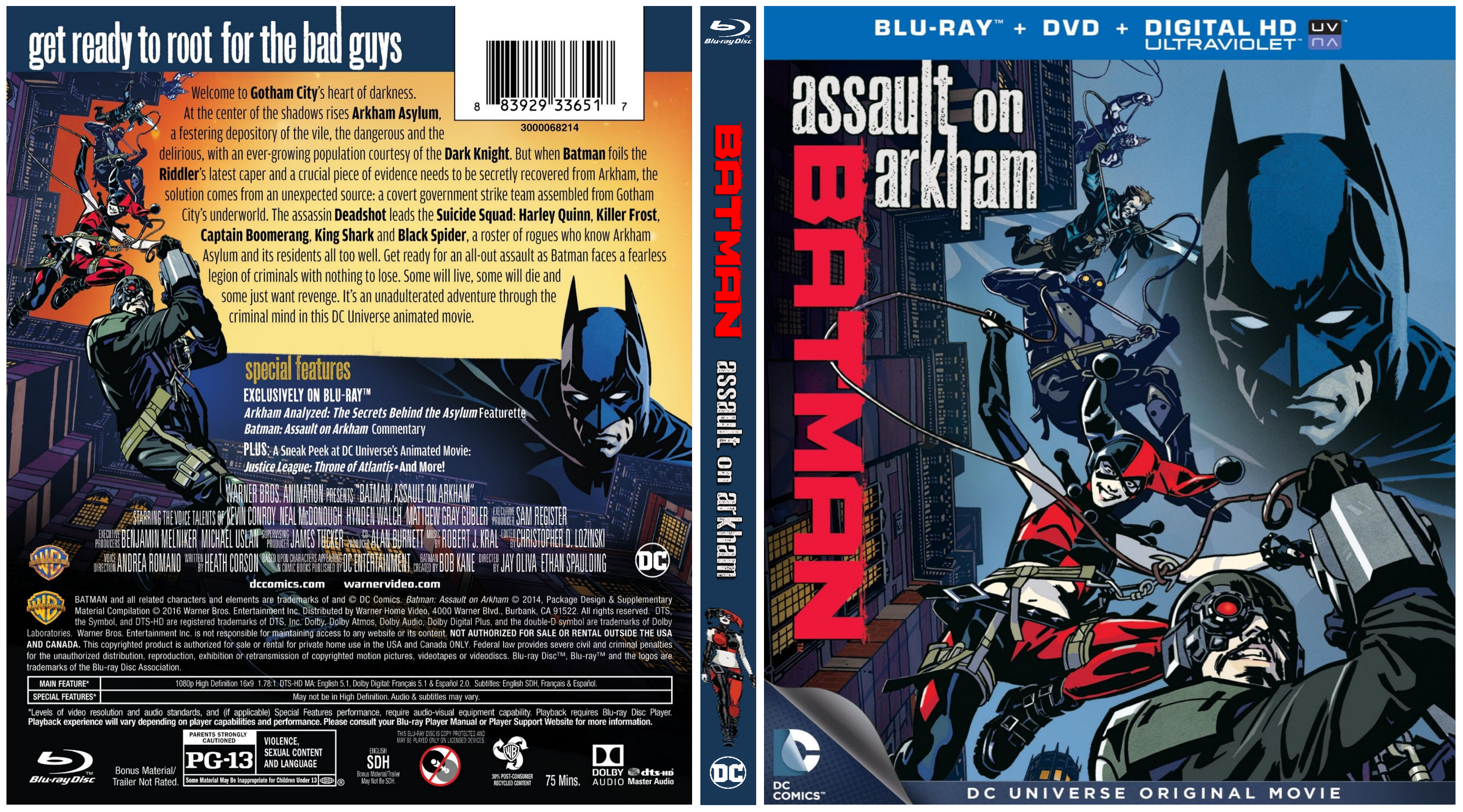Batman Assault On Arkham Blu Ray Covers Cover Century Over