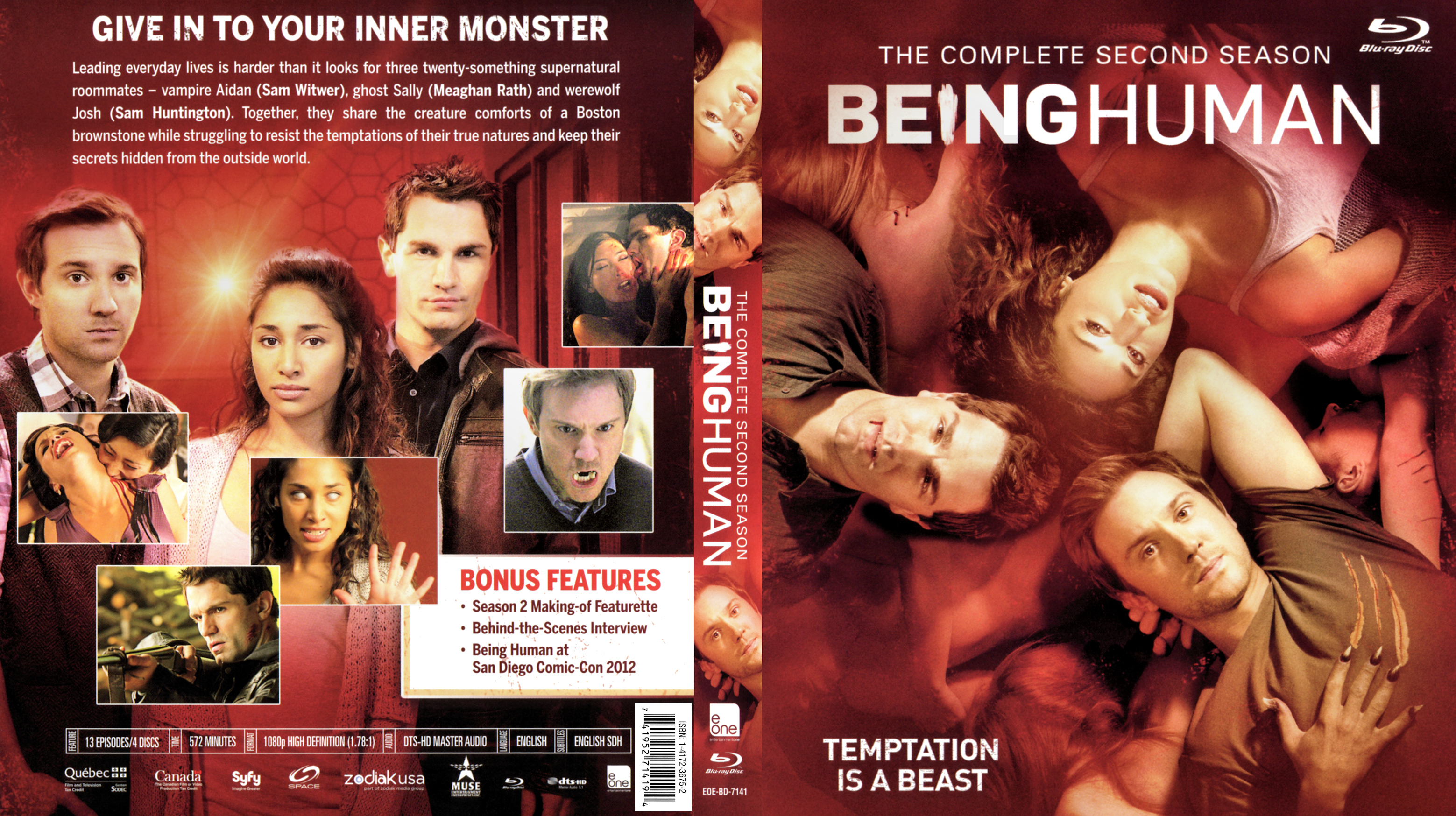 Being Human US S02 Blu ray | Blu-Ray Covers | Cover Century