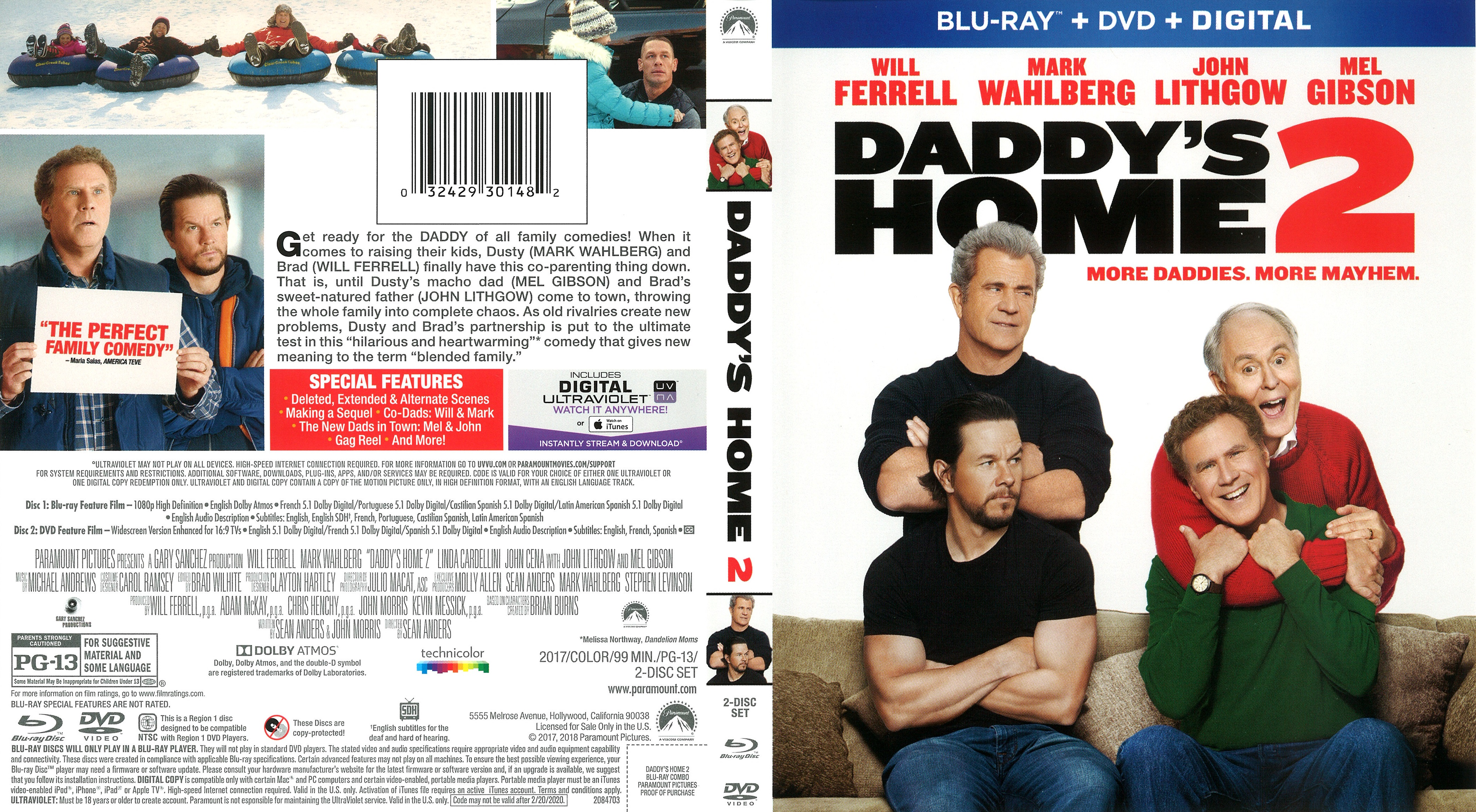 Daddys Home 2 2017 Front Blu Ray Covers Cover Century Over 500 000 Album Art Covers For Free