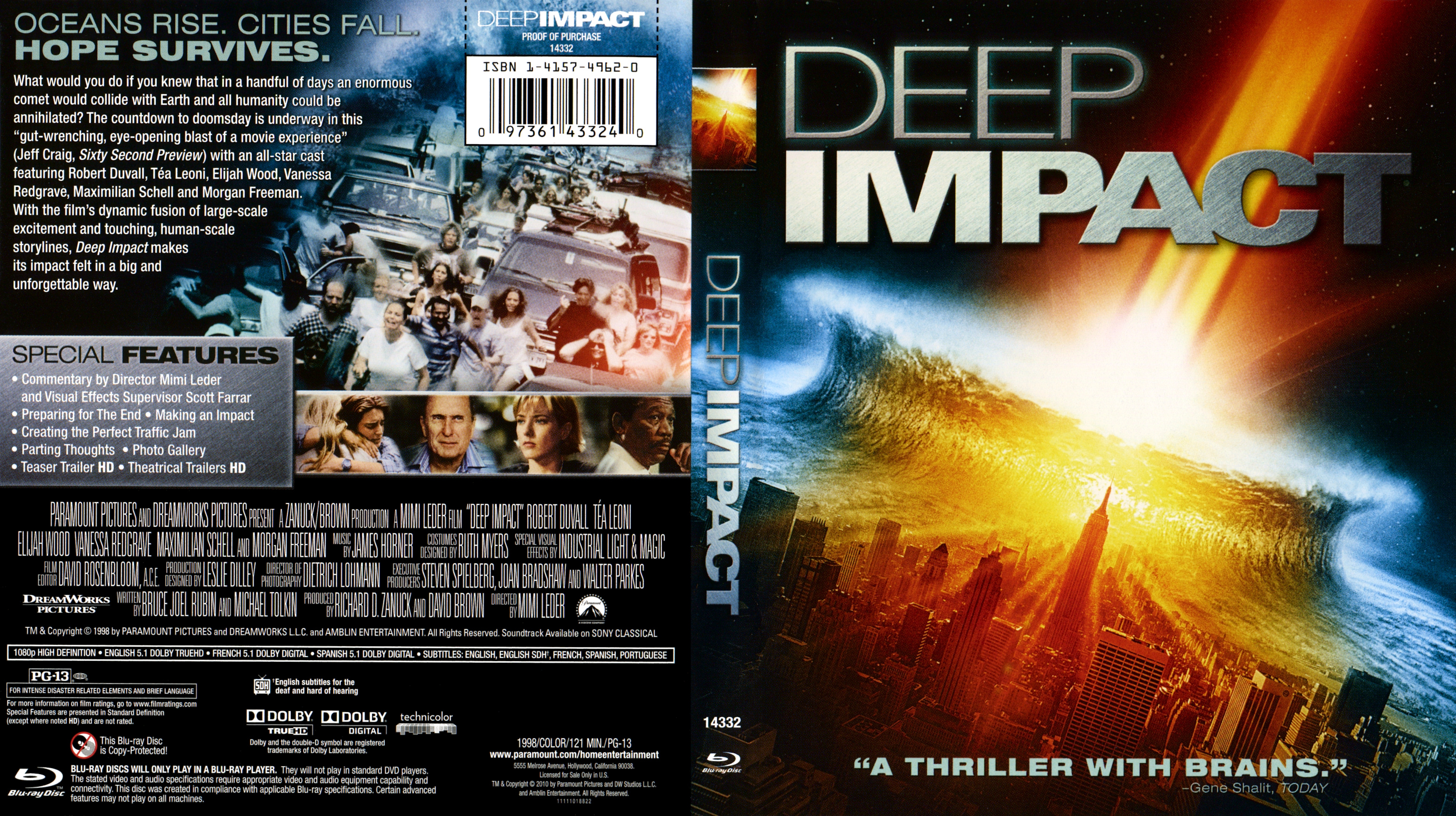 Deep Impact Blu Ray Blu Ray Covers Cover Century Over 500 000 Album Art Covers For Free