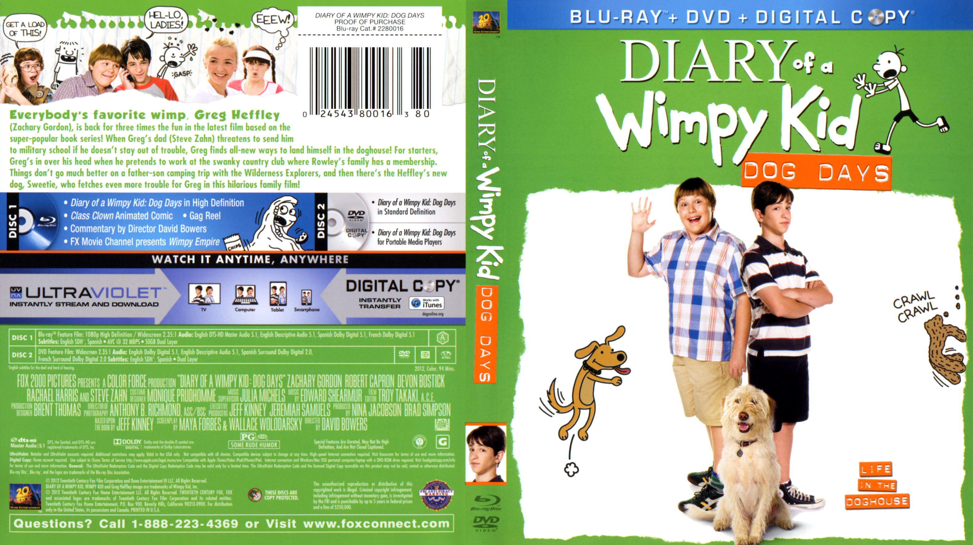 Diary Of A Wimpy Kid Dog Days Blu Ray Blu Ray Covers Cover Century Over 500 000 Album Art Covers For Free
