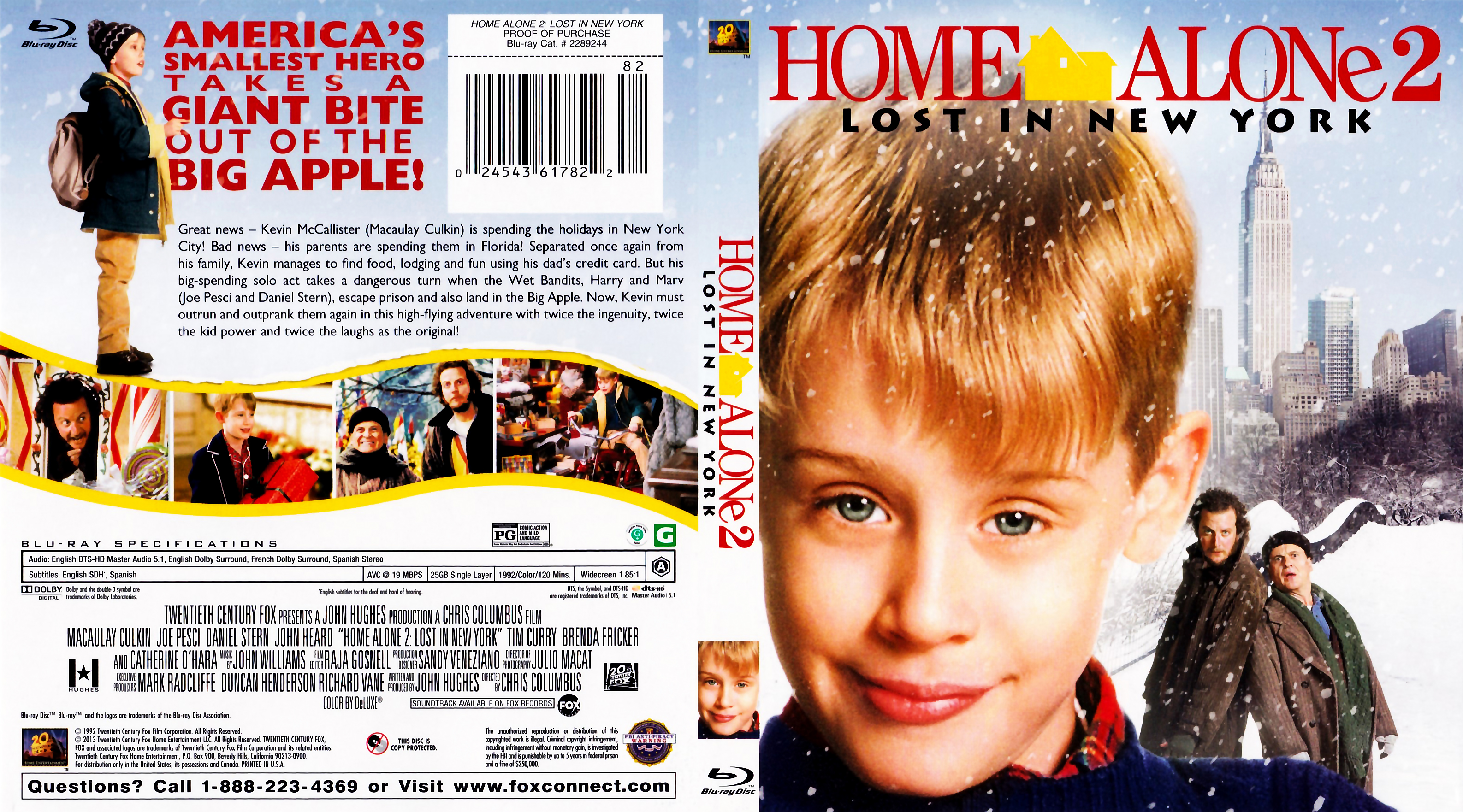 Home Alone 2 Lost In New York 1992 Blu Ray Covers Cover Century Over 500 000 Album Art Covers For Free