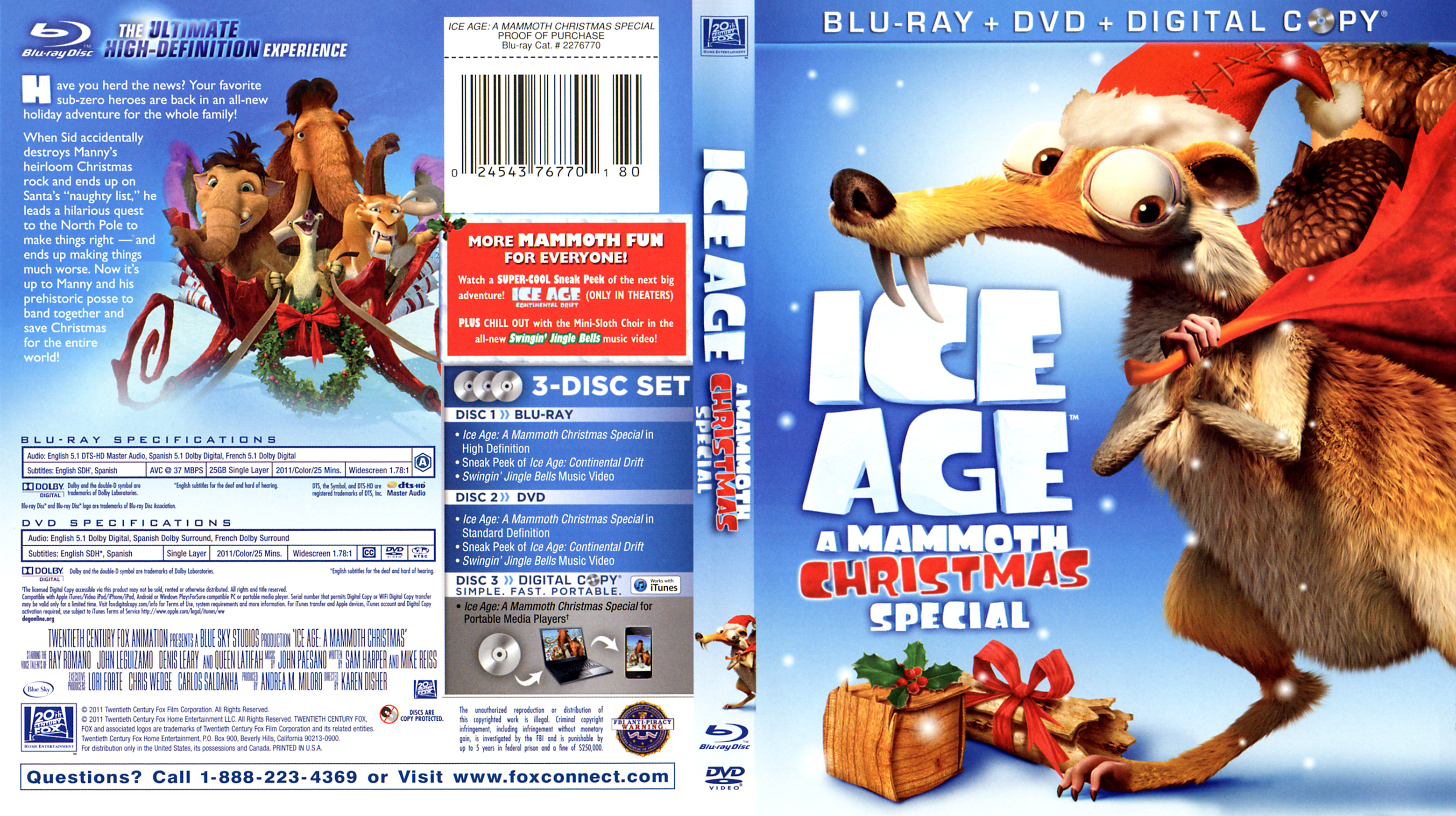 ice age a mammoth christmas special blu ray - Ice Age Mammoth Christmas