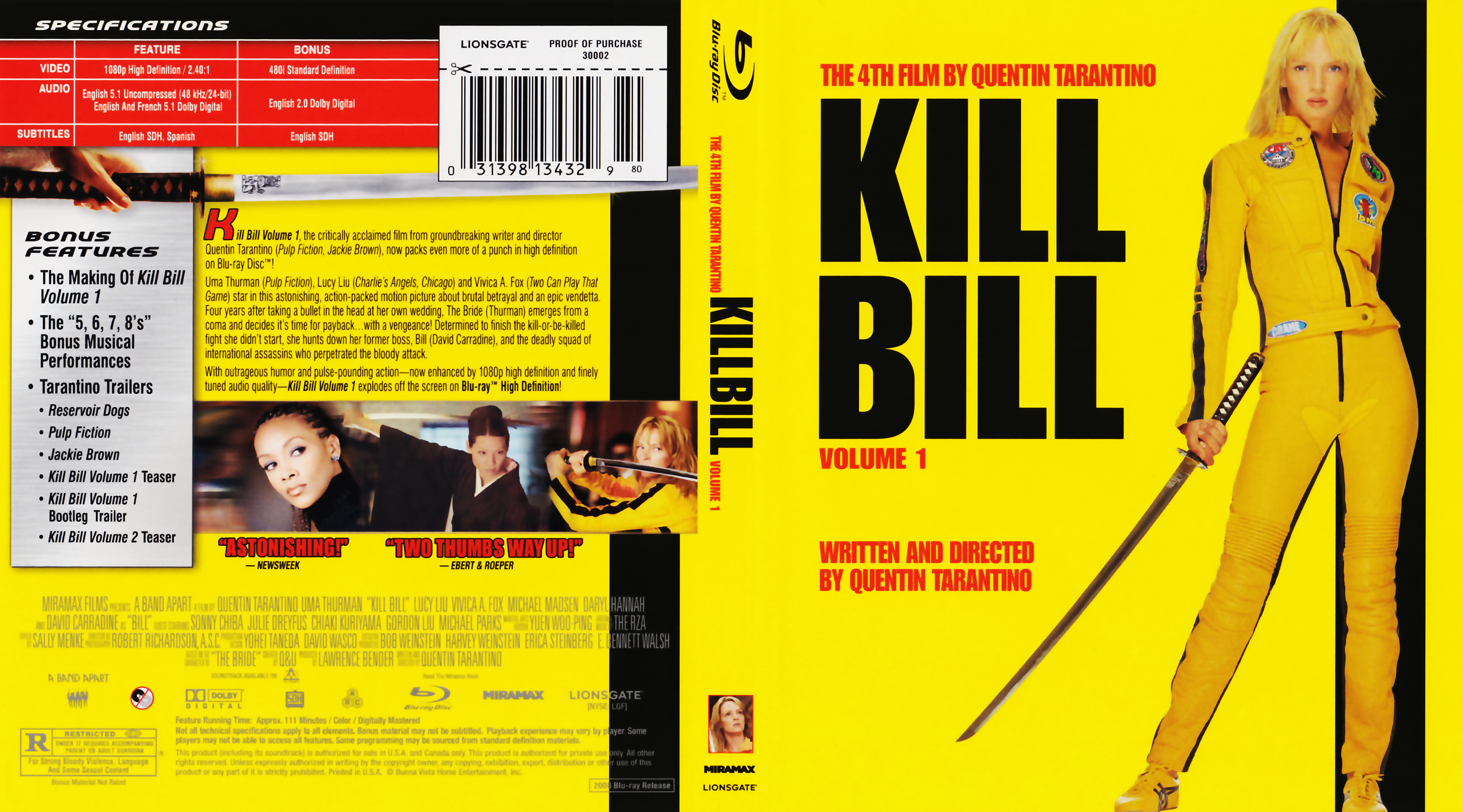 Kill Bill Volume 1 2003 Blu Ray Covers Cover Century Over 500 000 Album Art Covers For Free
