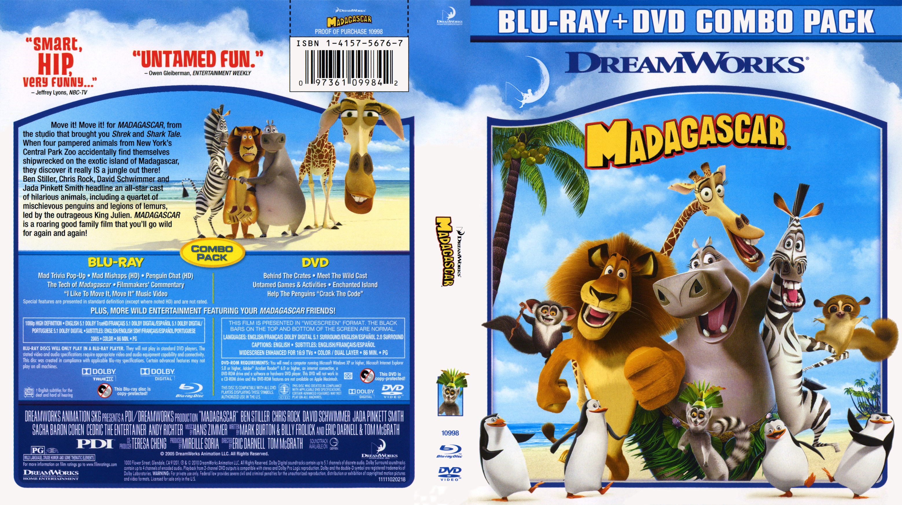 Madagascar 1 Blu ray | Blu-Ray Covers | Cover Century | Over
