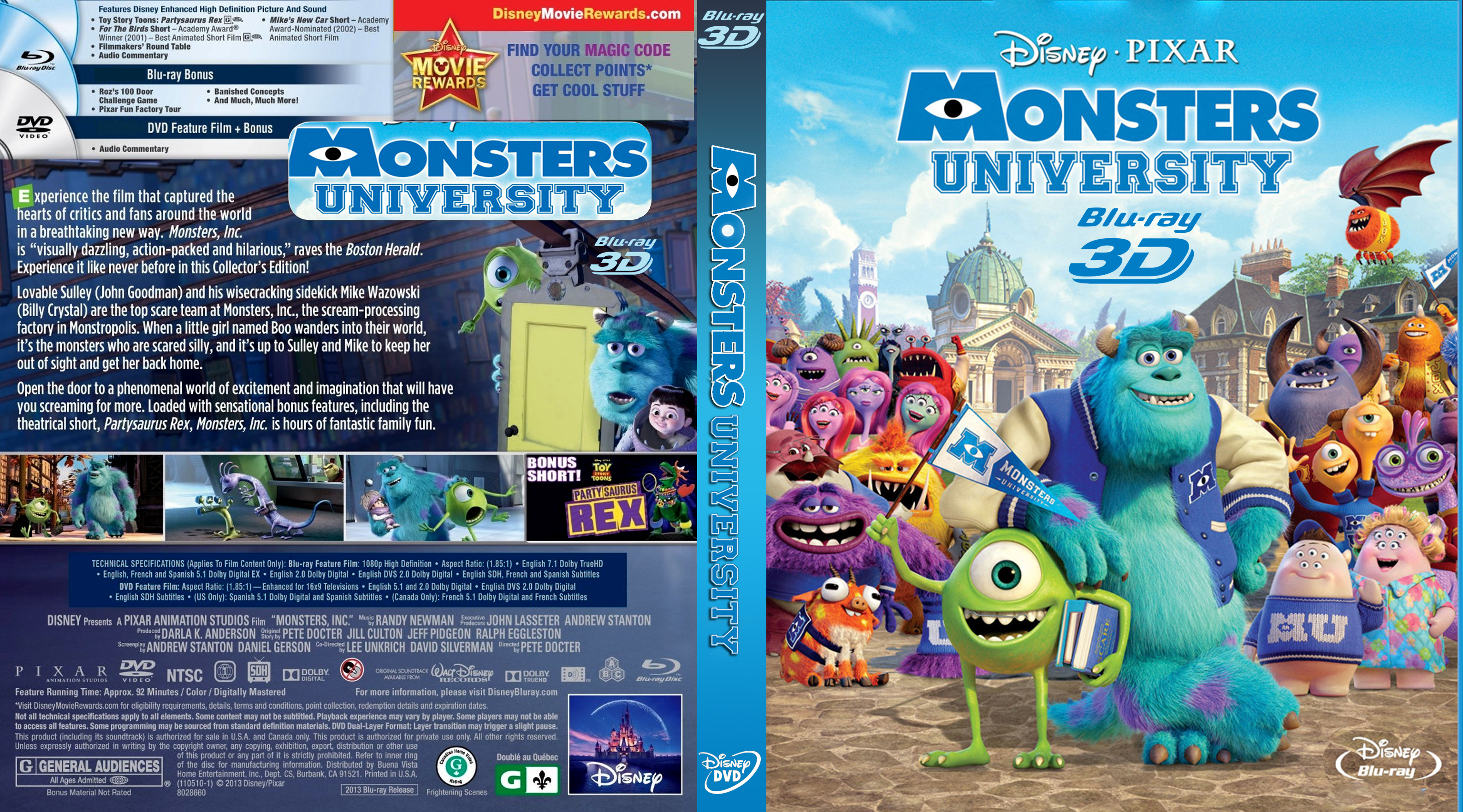 Monsters university | DVD Covers | Cover Century | Over ...