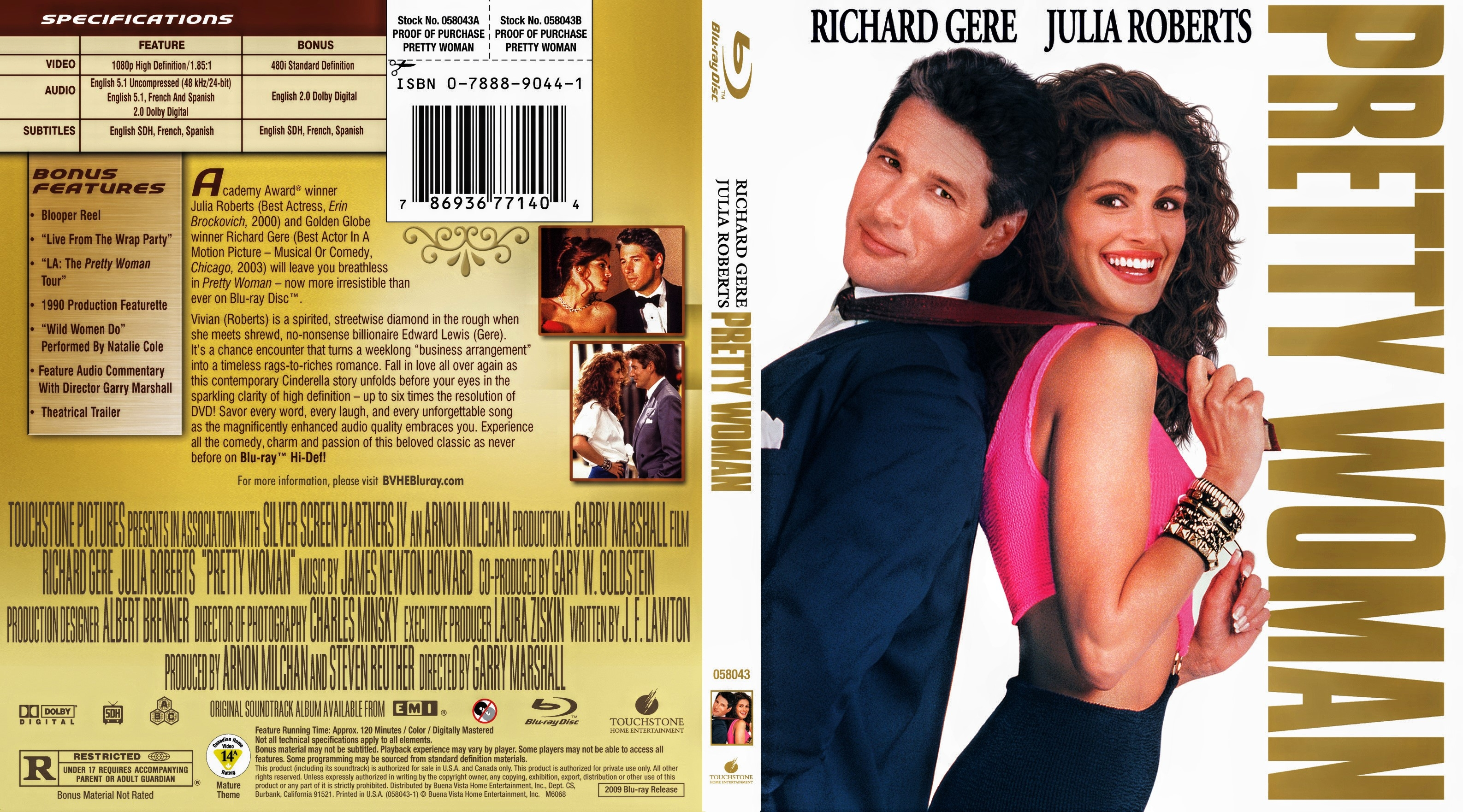 Pretty Woman 1990 Blu Ray Covers Cover Century Over 500 000 Album Art Covers For Free