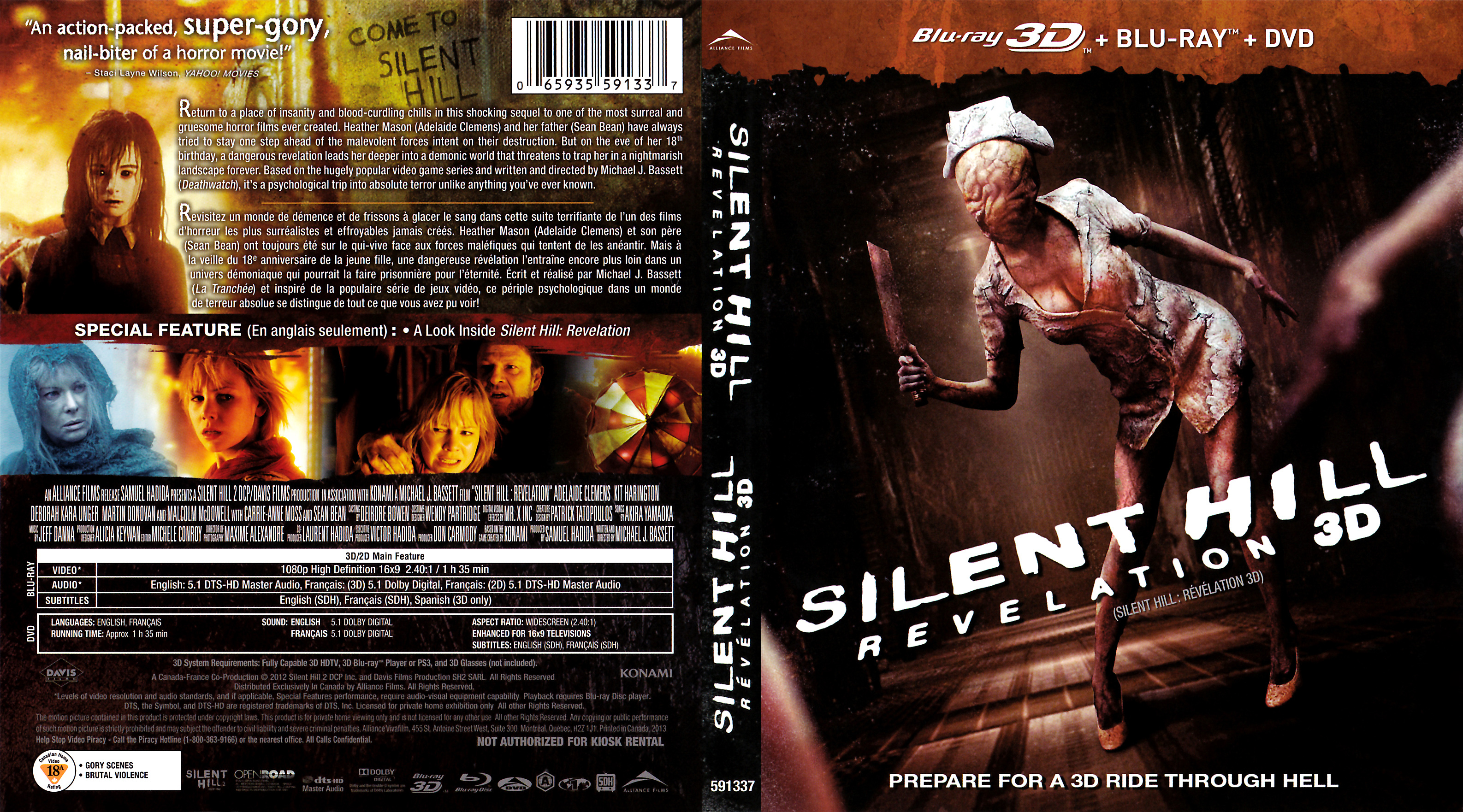 Silent Hill Revelation 3d Br Blu Ray Covers Cover Century Over 500 000 Album Art Covers For Free