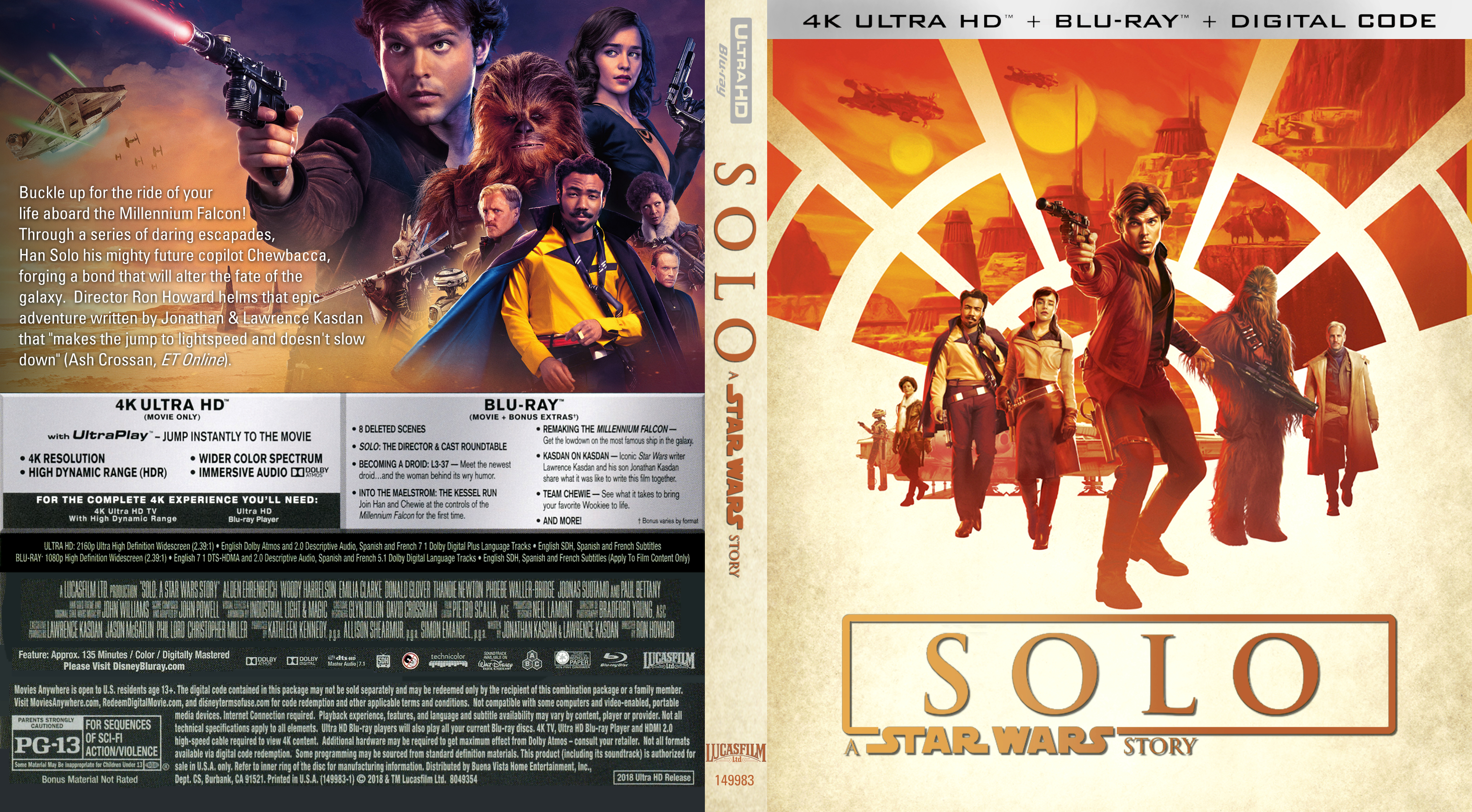 Solo A Star Wars Story 2018 Front Blu Ray Covers Cover Century Over 500 000 Album Art Covers For Free