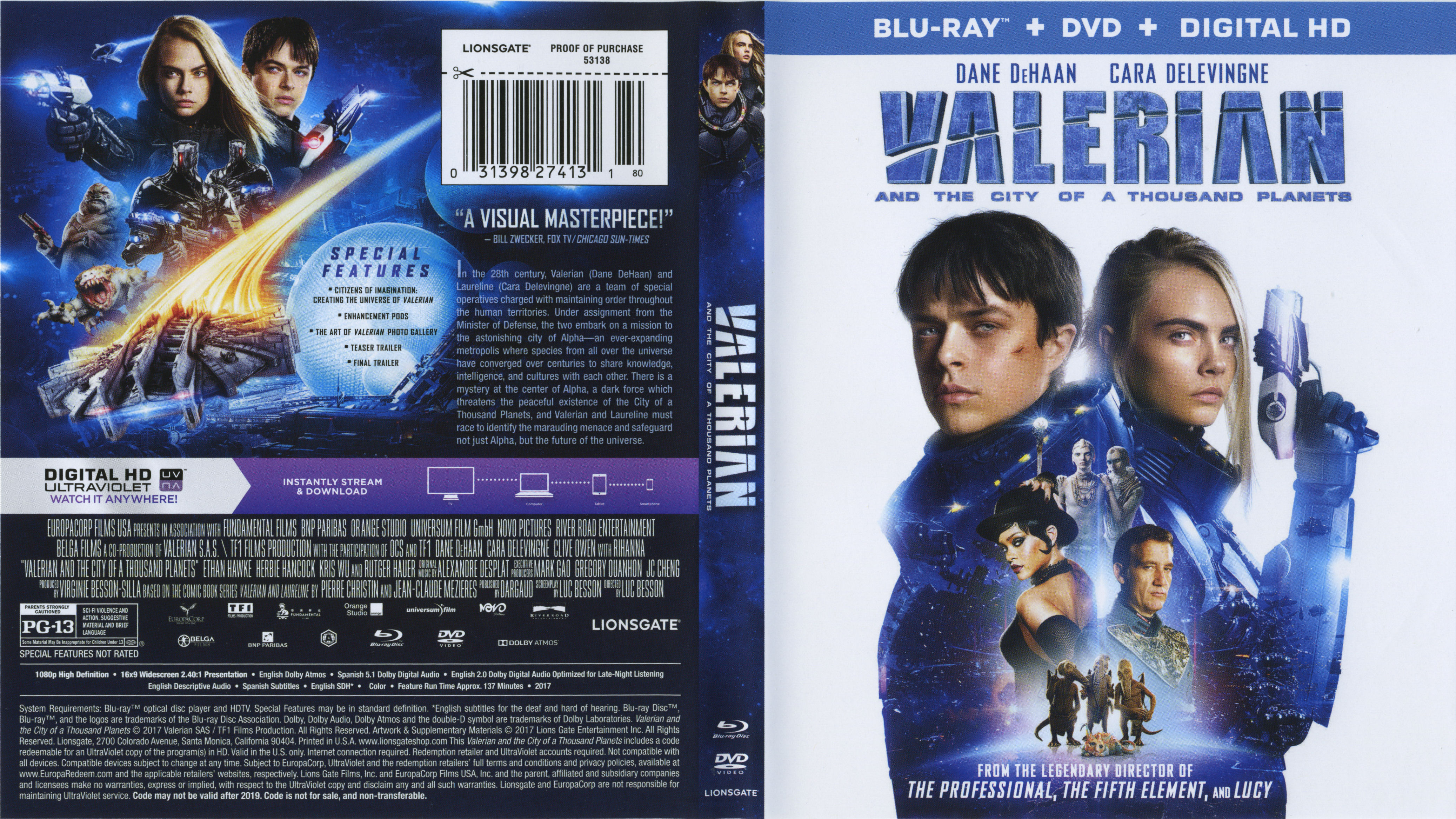 Valerian And The City Of Thousand Planets 2017 Front Blu Ray Covers Cover Century Over 500 000 Album Art Covers For Free