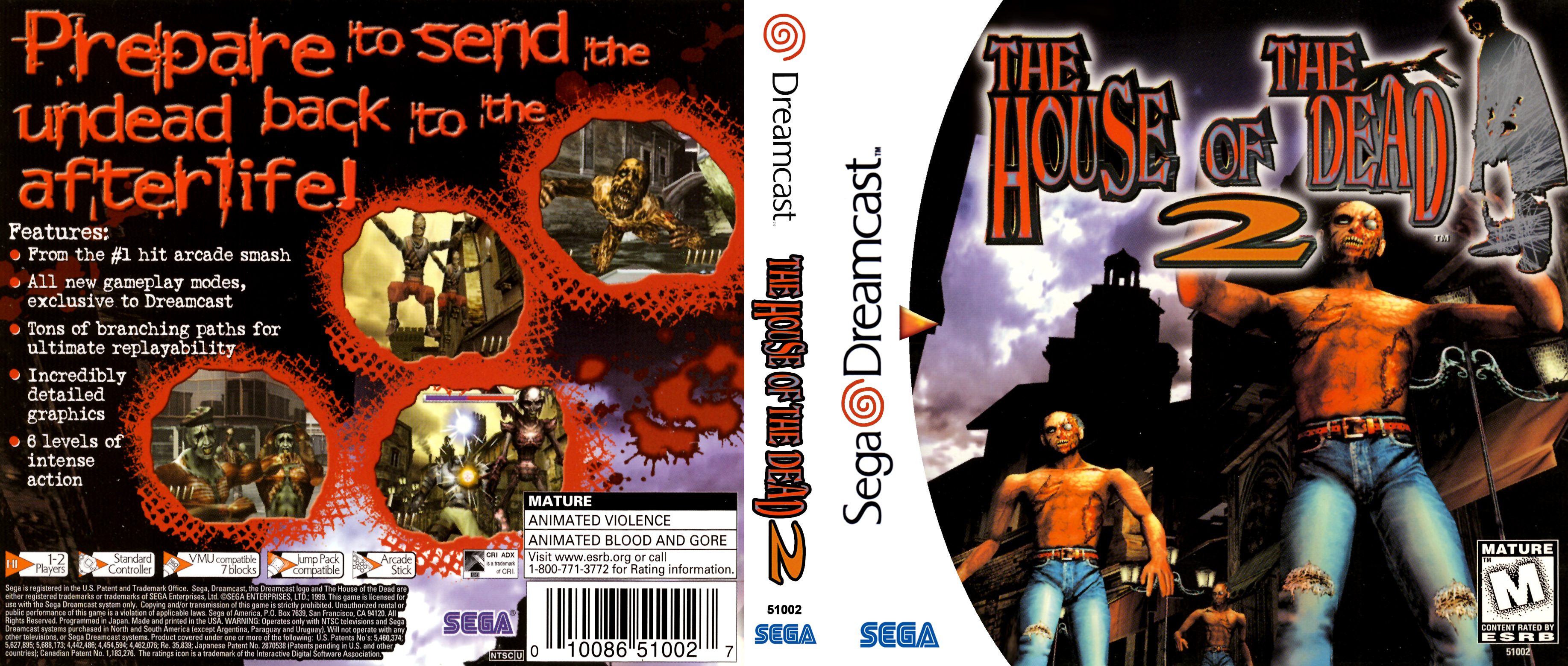 The House Of The Dead 2 Dreamcast Covers Cover Century Over