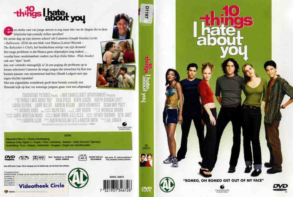 10 Things I Hate About You Cover: 10 Things I Hate About You DVD NL