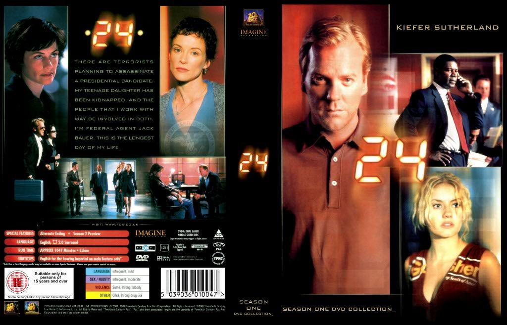 24 Season 1 DVD US   DVD Covers   Cover Century   Over
