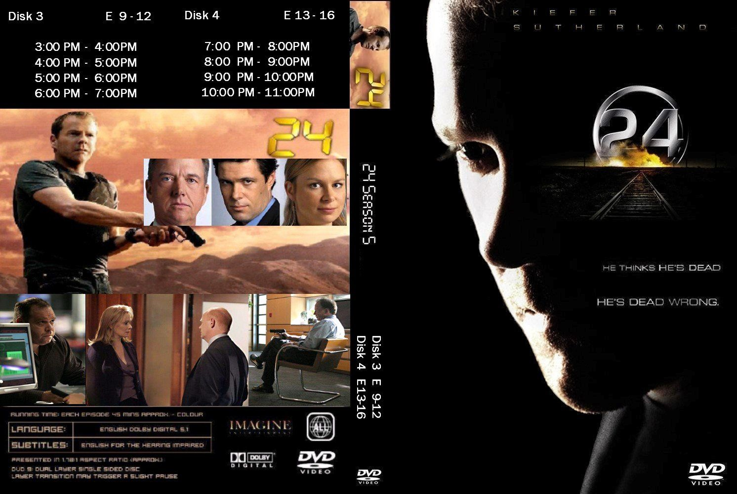 24 Season 5 Disk 3 and 4 DVD US CUSTOM | DVD Covers | Cover