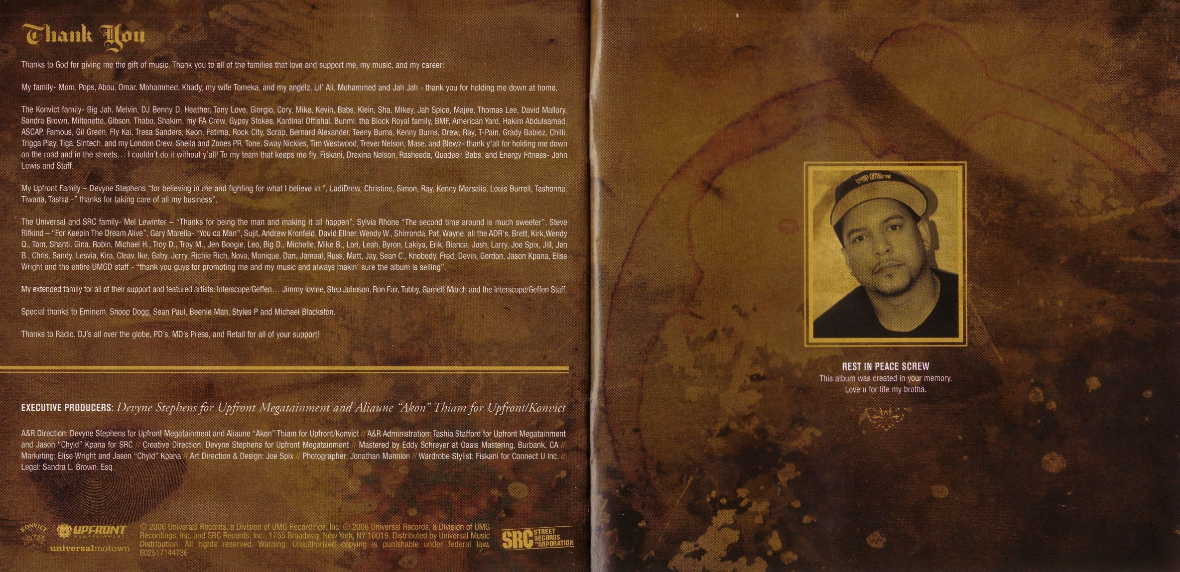 Akon Konvicted 13 Tracks booklet 08 | DVD Covers | Cover Century