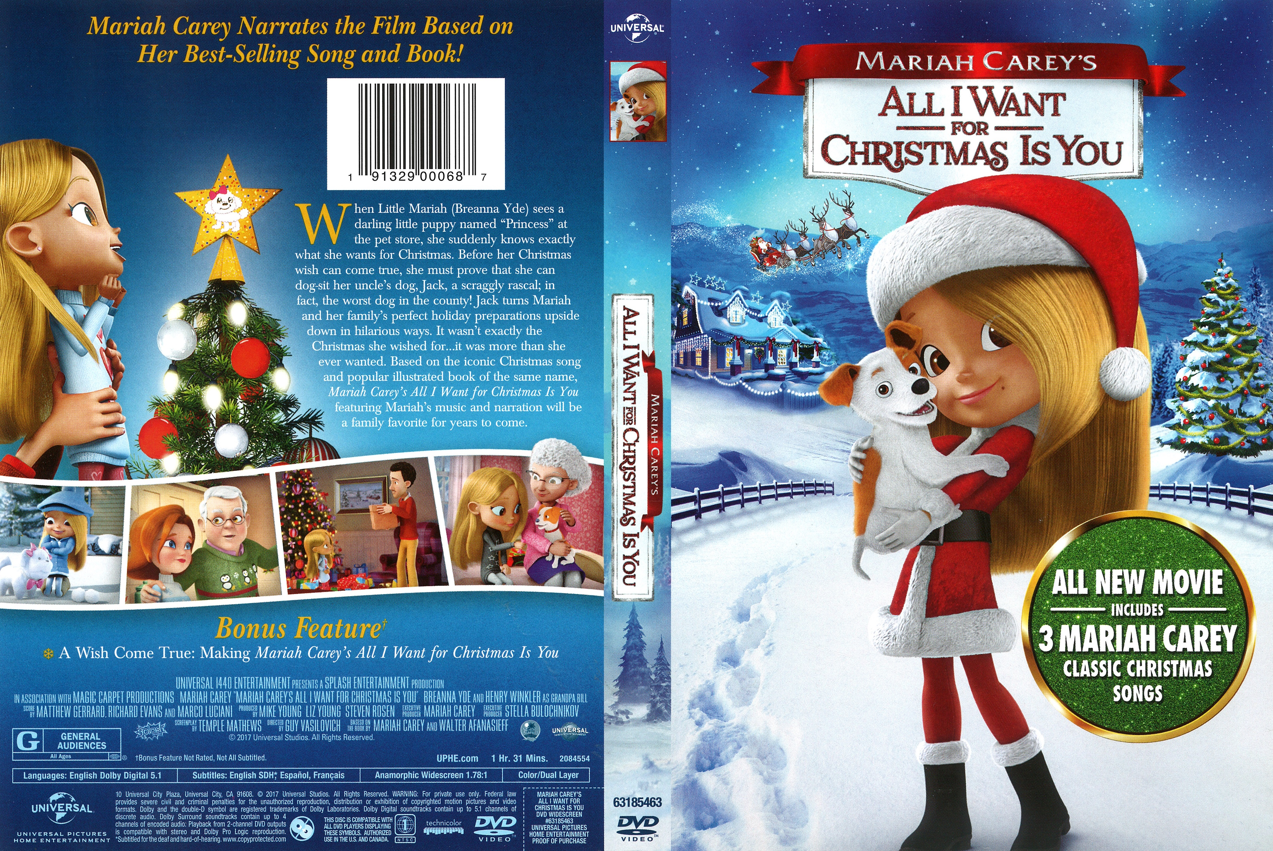 All I Want For Christmas Movie.All I Want For Christmas Is You 2017 Front Dvd Covers