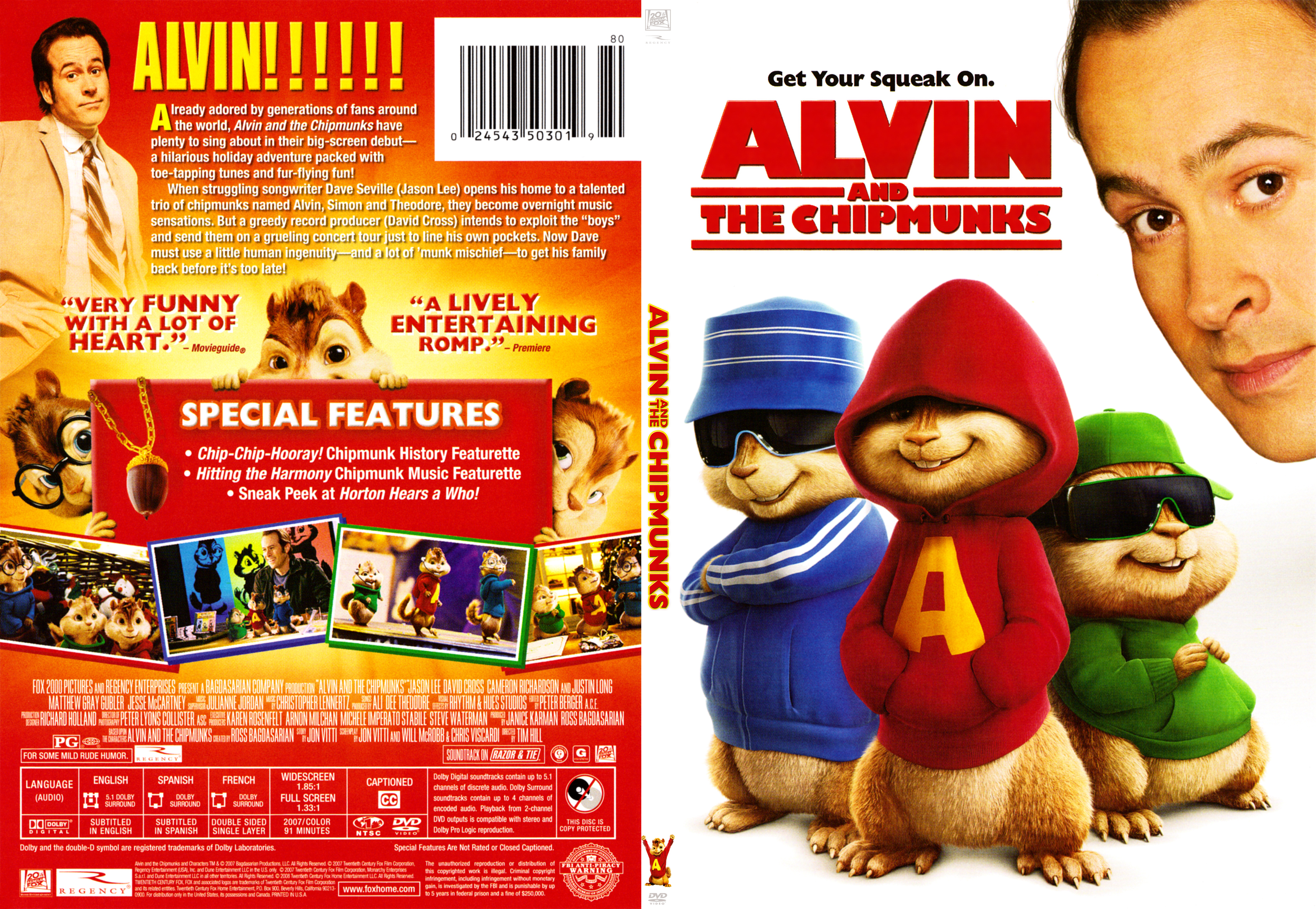 Alvin The Chipmunks Thinpack Dvd Covers Cover Century Over