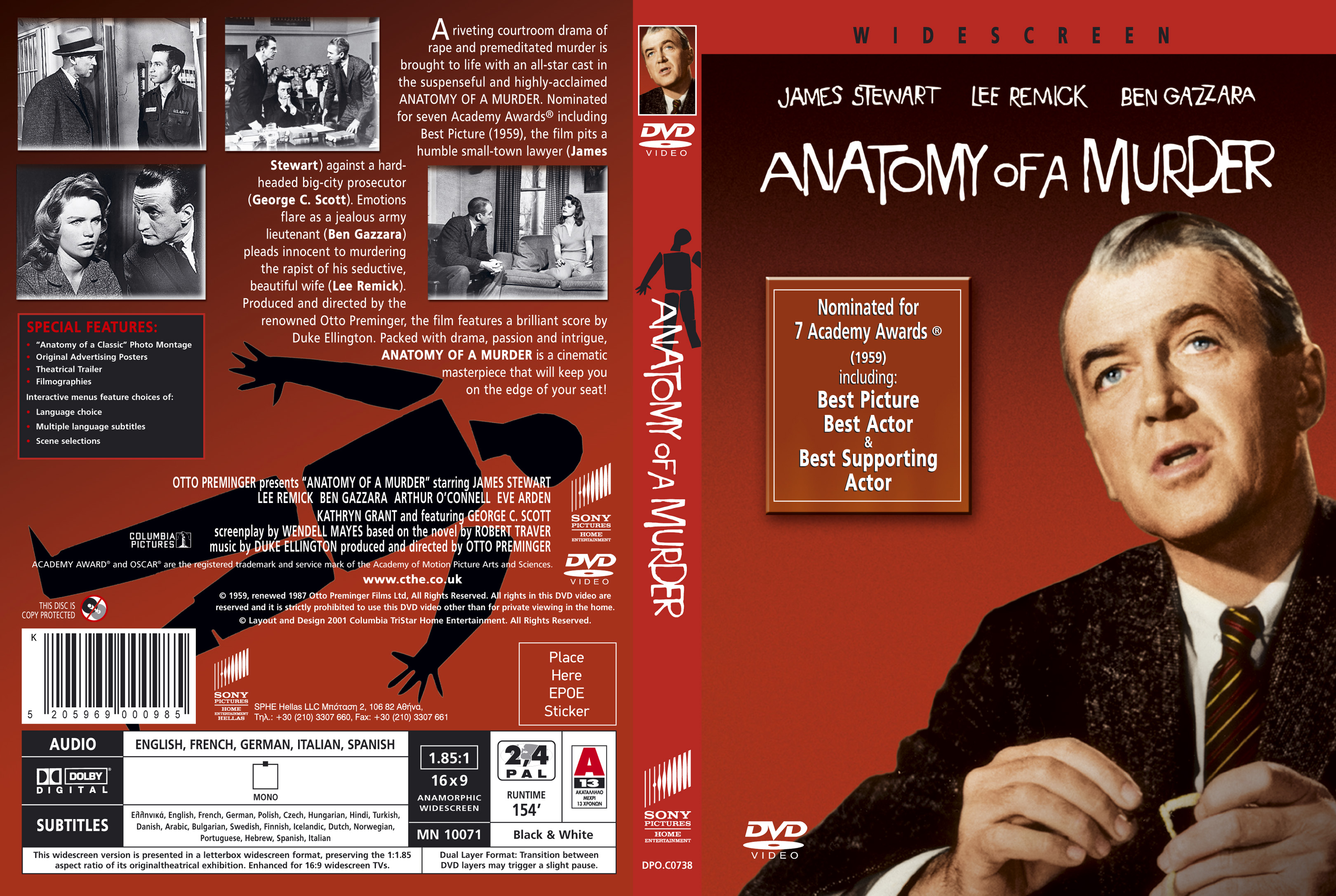 Anatomy of a Murder GR | DVD Covers | Cover Century | Over 500.000 ...