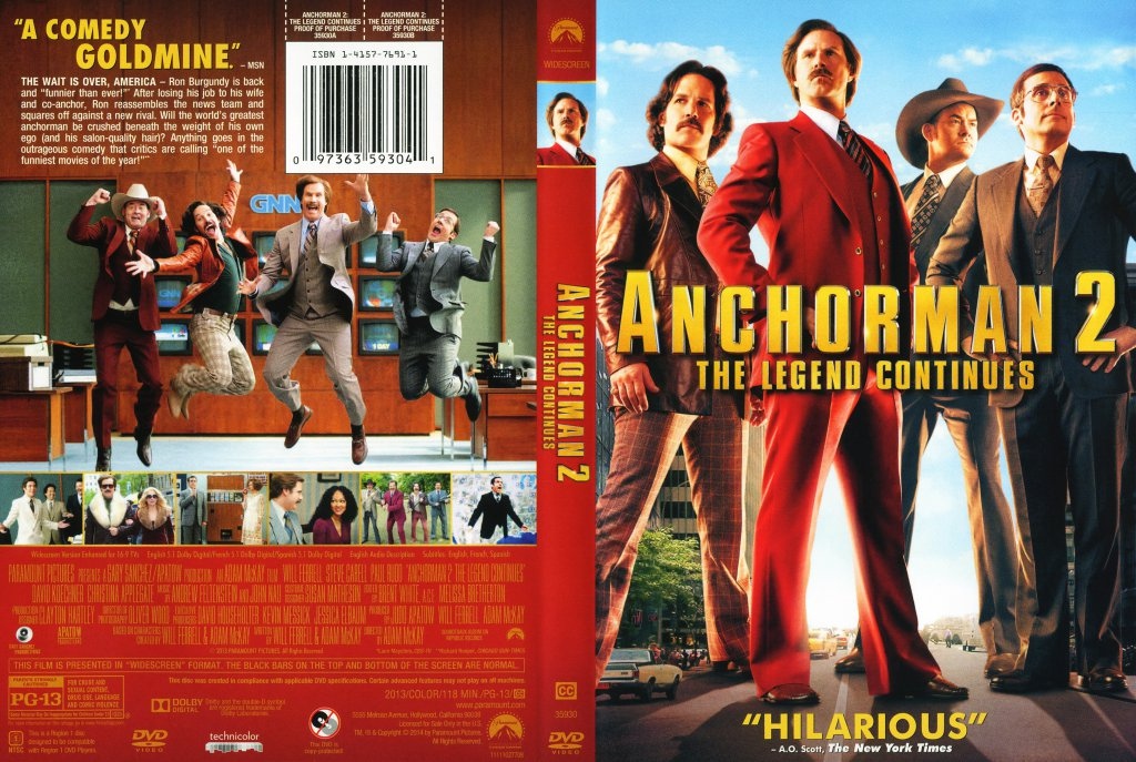 Anchorman 2 The Legend Continues 2013 Scanned Cover Dvd Covers Cover Century Over 500 000 Album Art Covers For Free