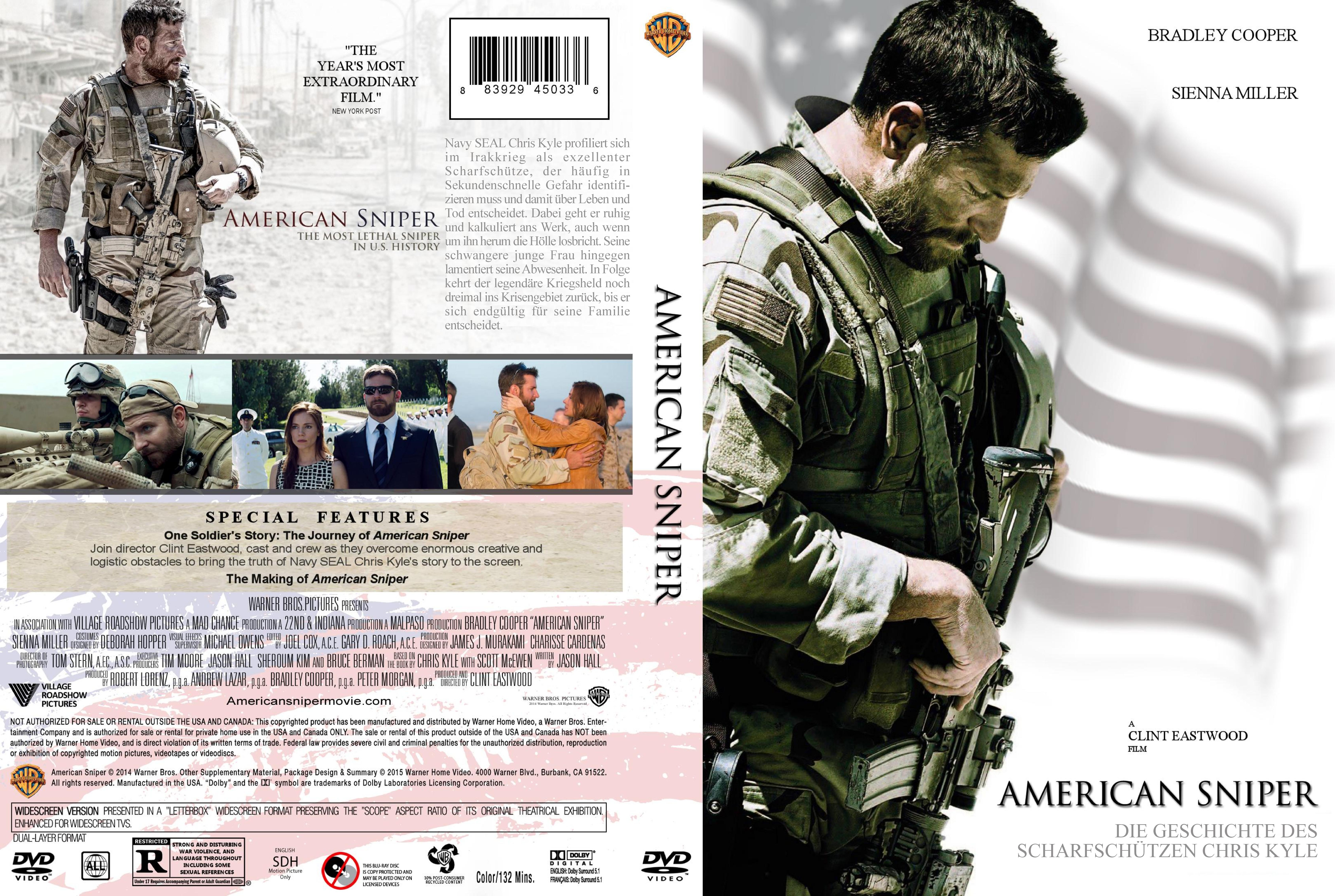 american sniper dvd cover version 2 | DVD Covers | Cover