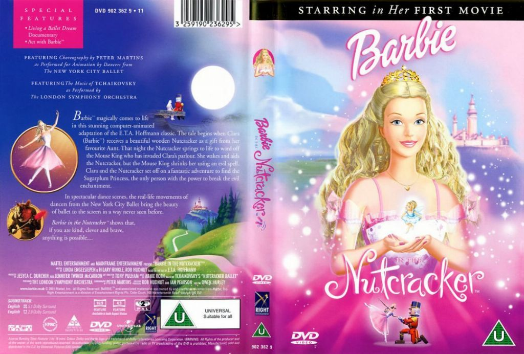 Barbie In The Nutcracker Dvd Us Dvd Covers Cover Century Over