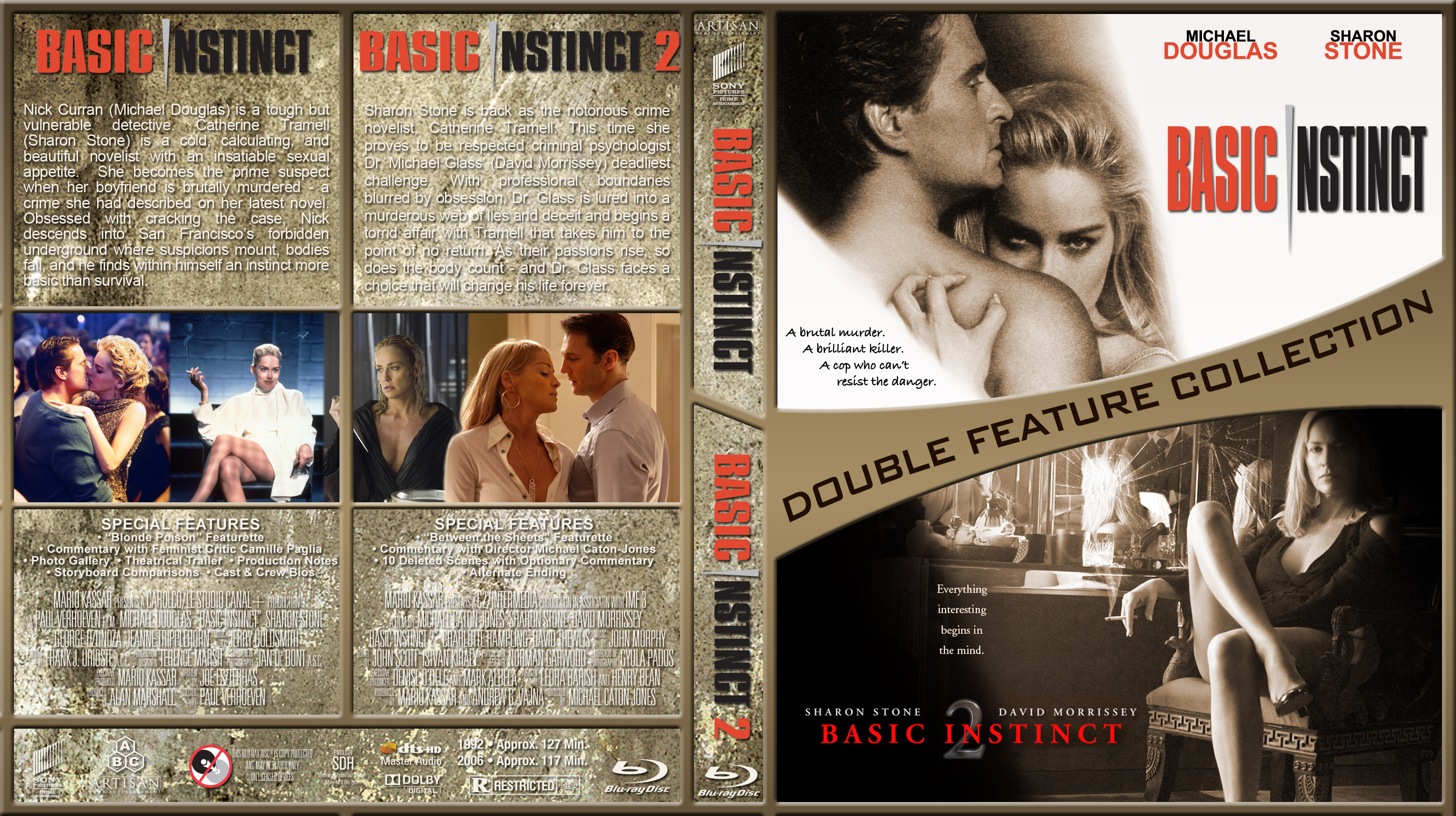 Basic Instinct Double Br Dvd Covers Cover Century Over 500 000 Album Art Covers For Free