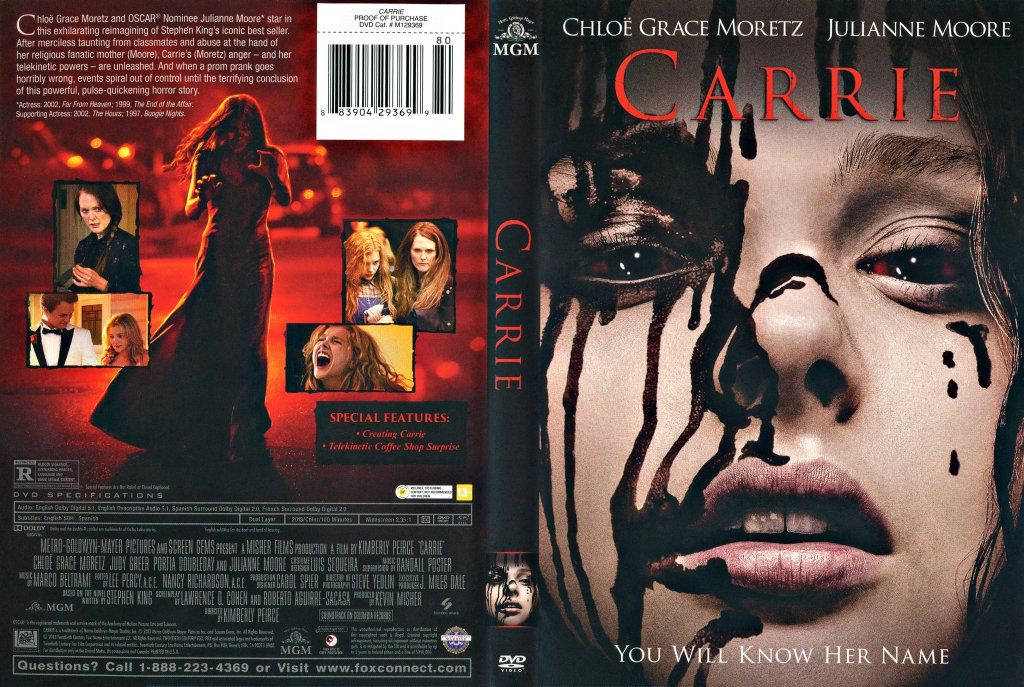 carrie 2013 scanned cover dvd covers cover century over