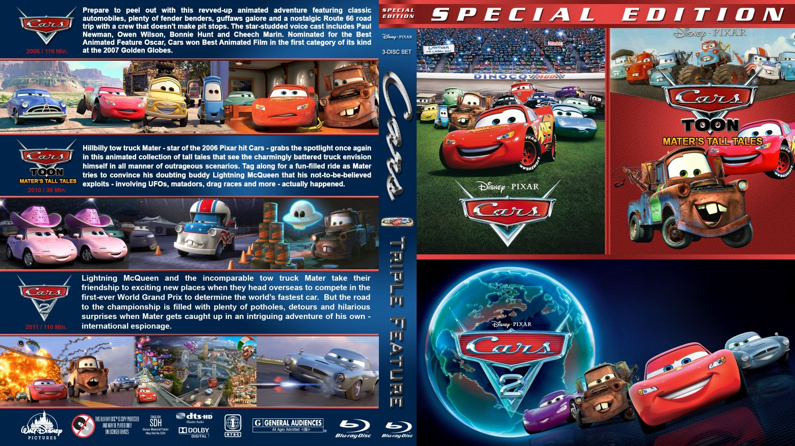 Cars Triple Br Dvd Covers Cover Century Over 500 000 Album