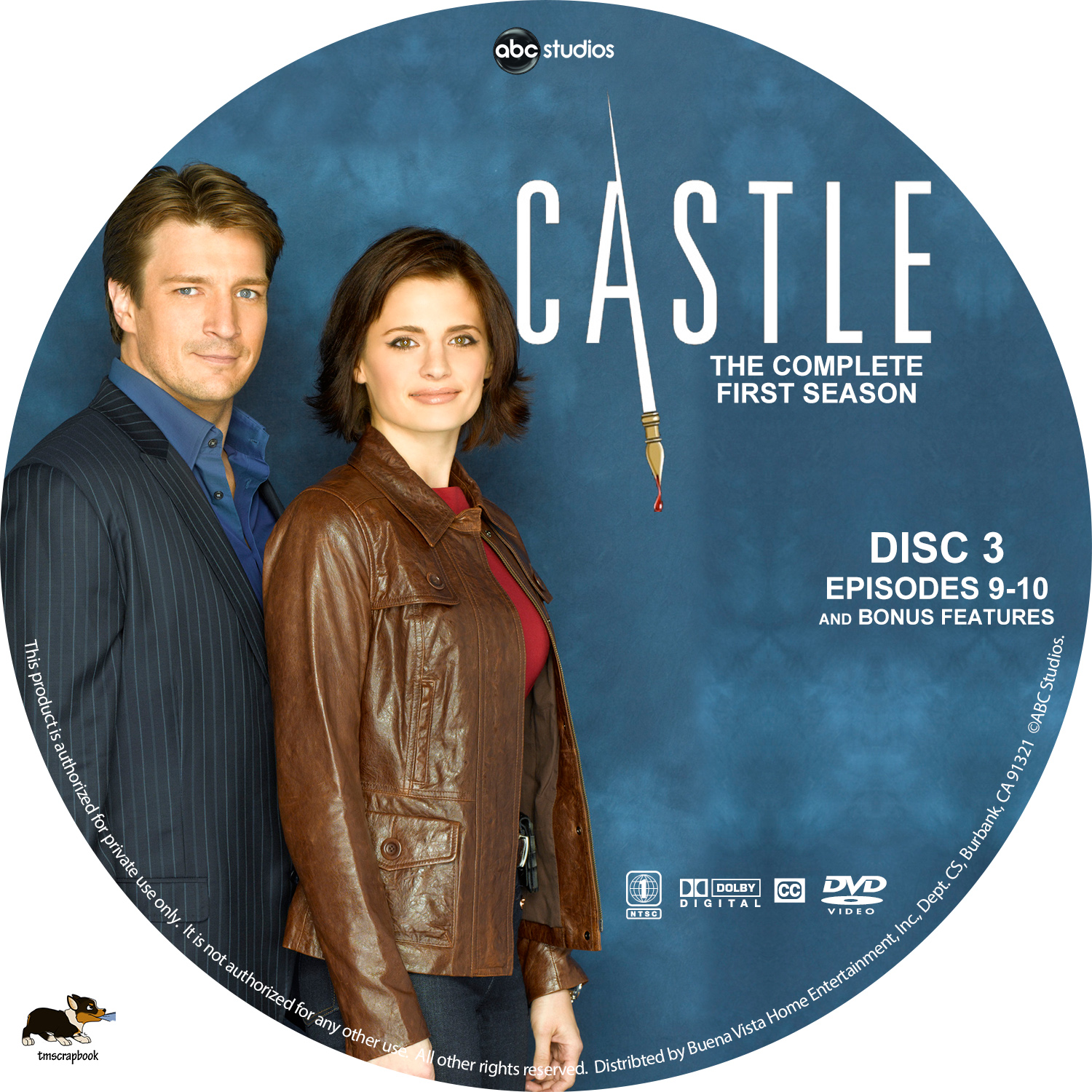 Castle S1 D3   DVD Covers   Cover Century   Over 500 000