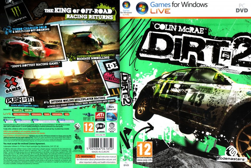 Colin McRae Dirt 2 2009 Scan | DVD Covers | Cover Century