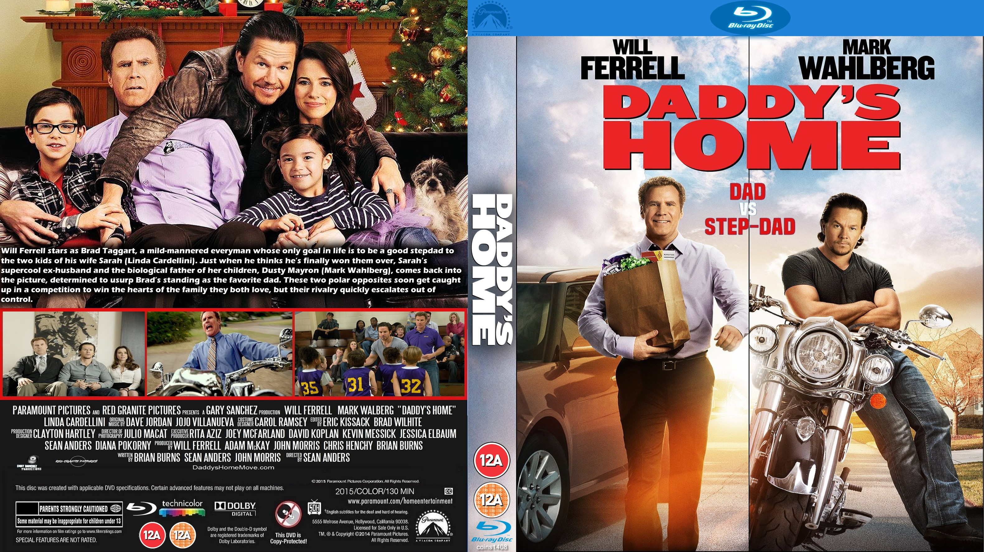 daddys home 2015 r1 blu ray dvd covers cover century over rh covercentury com home alone dvd cover home again dvd cover