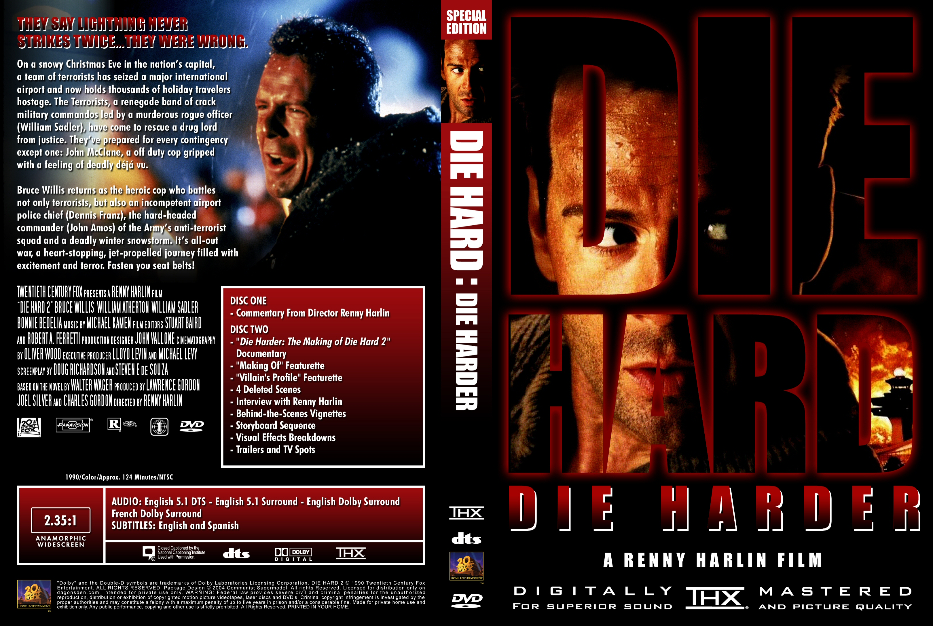Die Hard 2 Dvd Covers Cover Century Over 500 000 Album Art Covers For Free