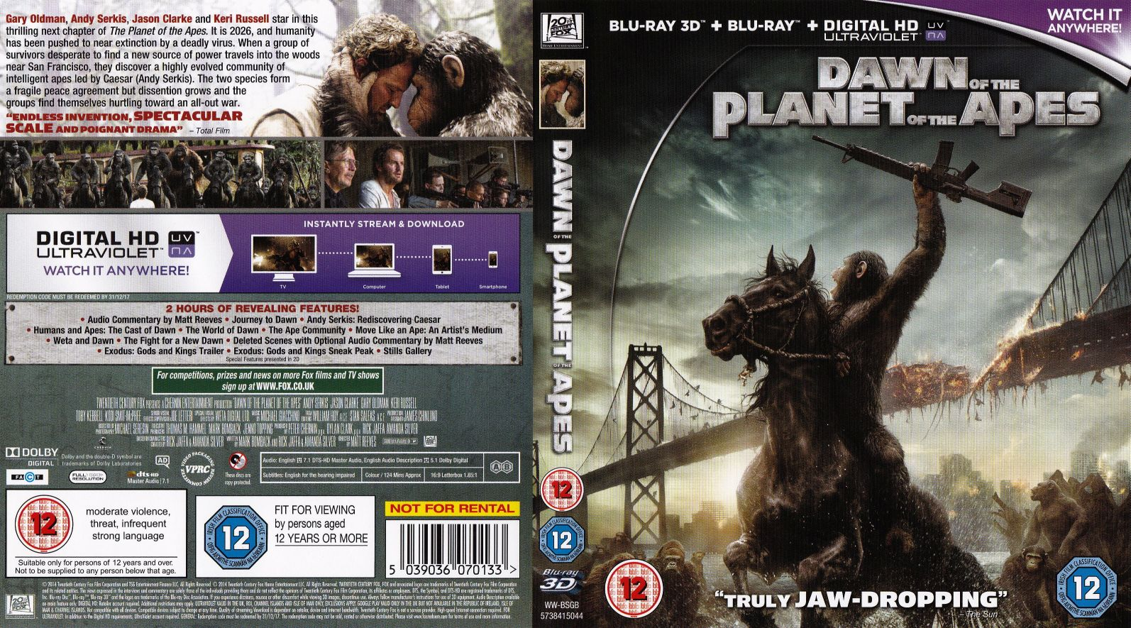 dawn of the planet of the apes 3d cover | DVD Covers ...
