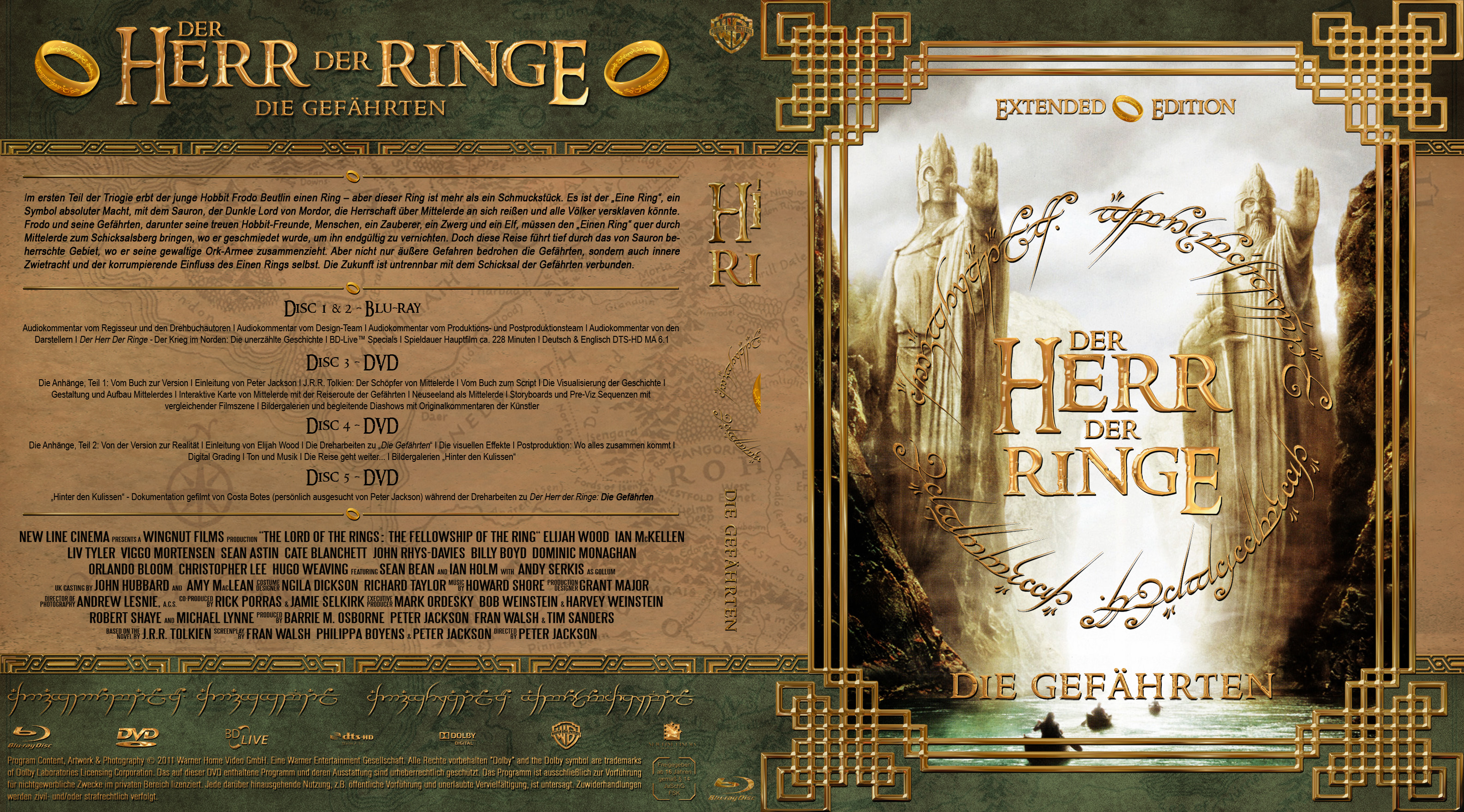 Der Herr Der Ringe 1 Extended Edition Version 2 Dvd Covers Cover Century Over 500 000 Album Art Covers For Free