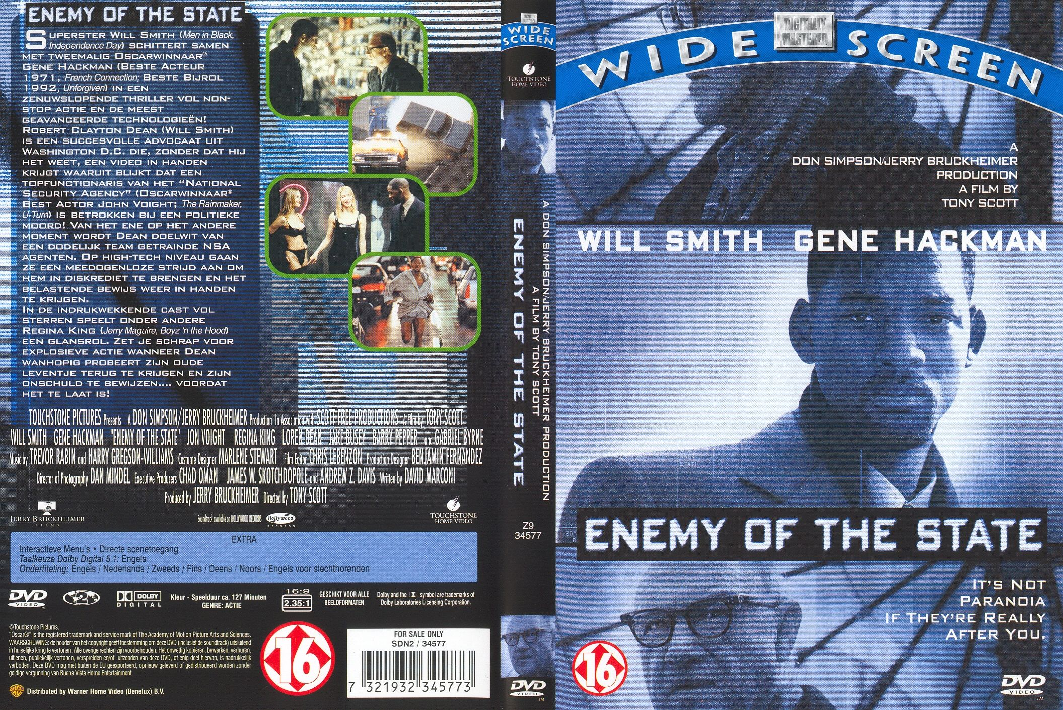 Enemy Of The State Pal Misc Dvd | DVD Covers | Cover ...