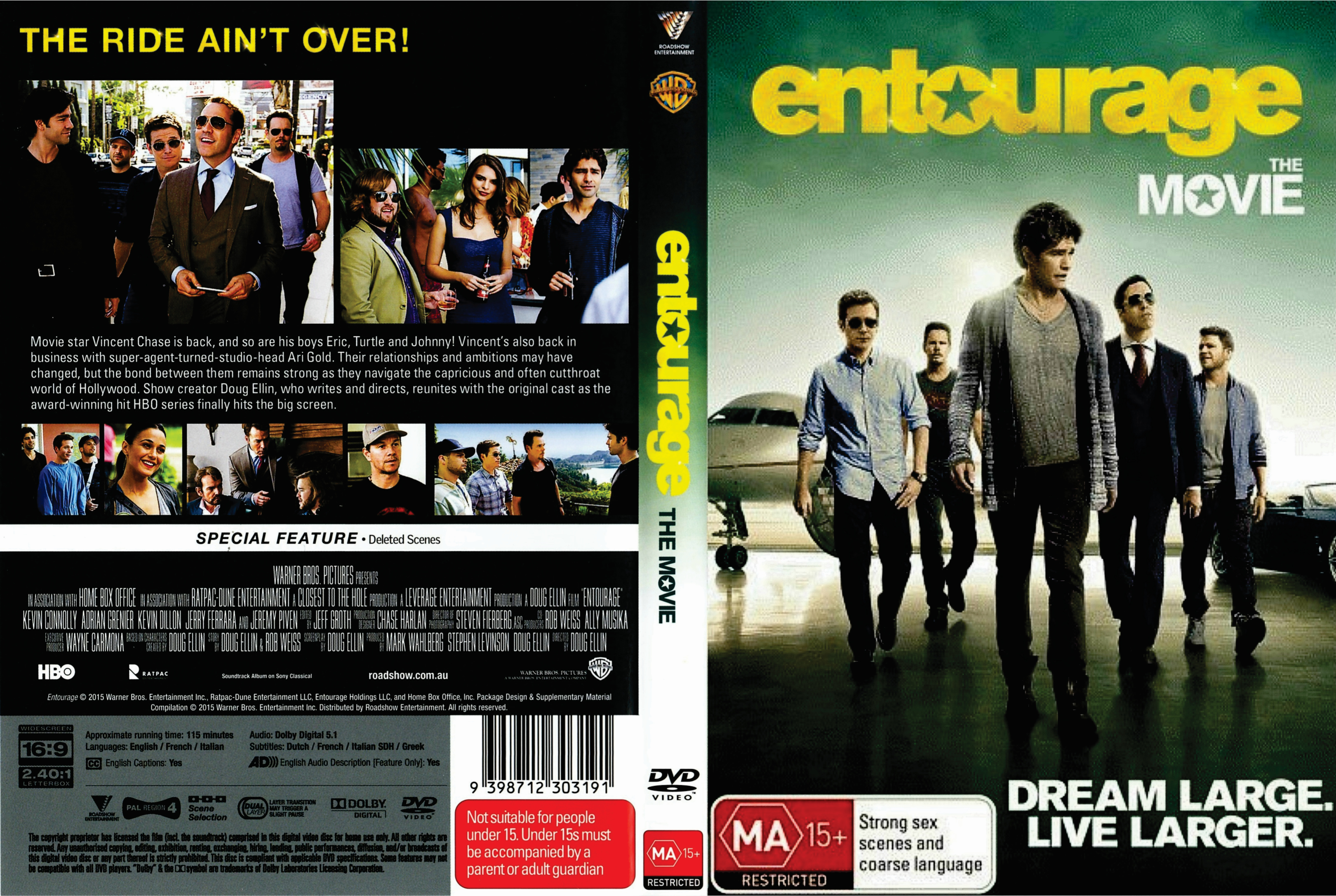 entourage the movie 2015 r4 front dvd covers cover century