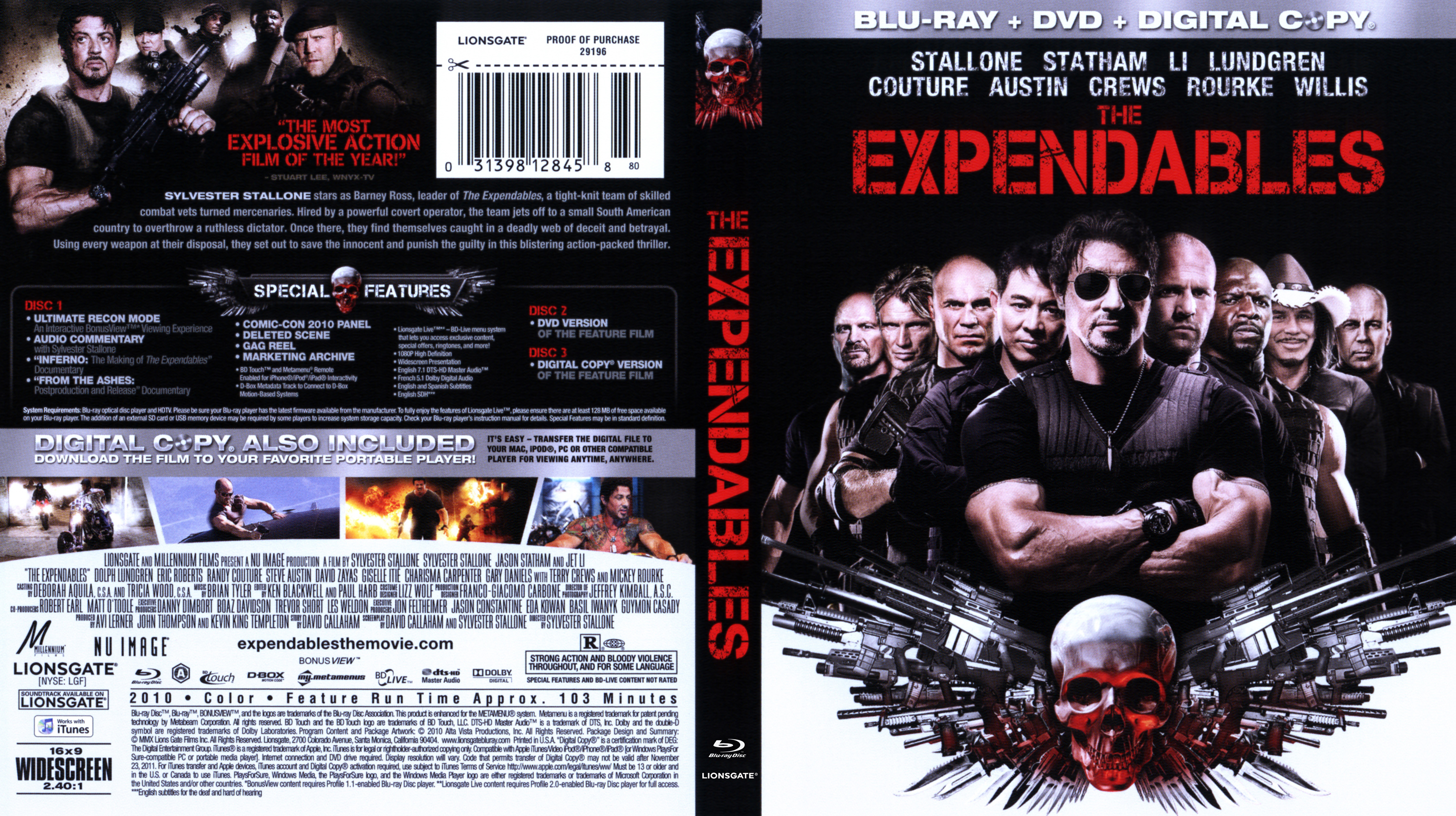 expendables the blu-ray | DVD Covers | Cover Century | Over