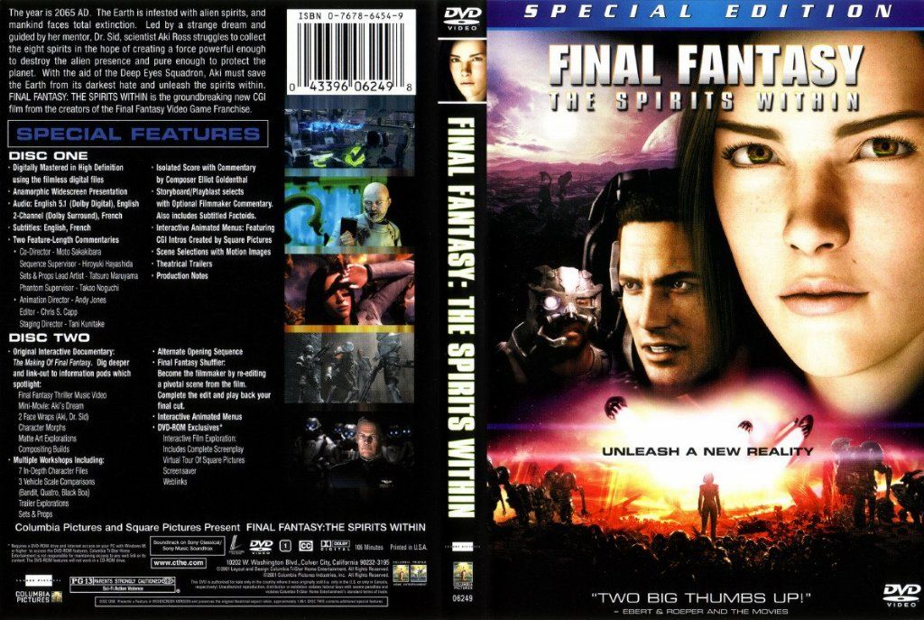 Final Fantasy The Spirits Within Dvd Us1 Dvd Covers Cover