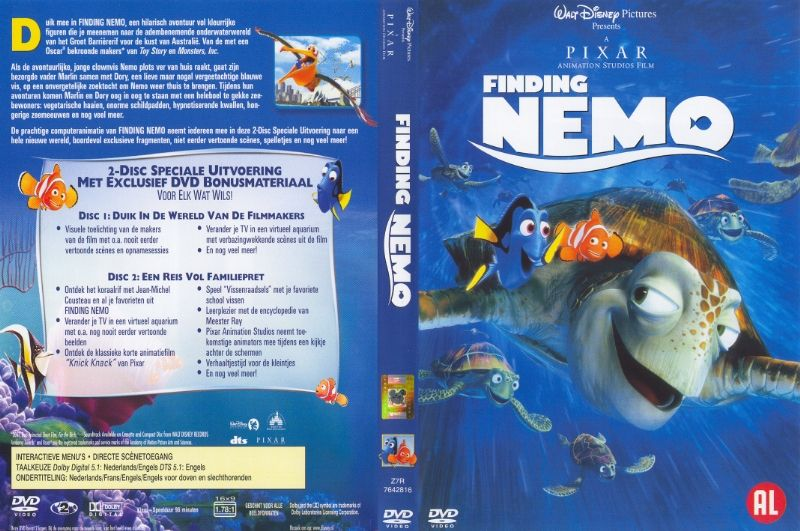 Finding Nemo 2 Disc DVD NL | DVD Covers | Cover Century ...