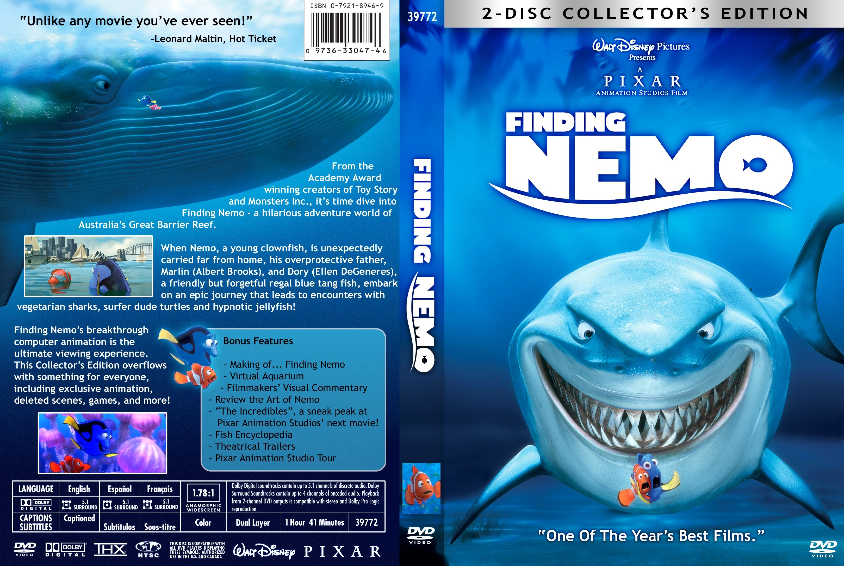 Finding Nemo Misc Dvd | DVD Covers | Cover Century | Over ...