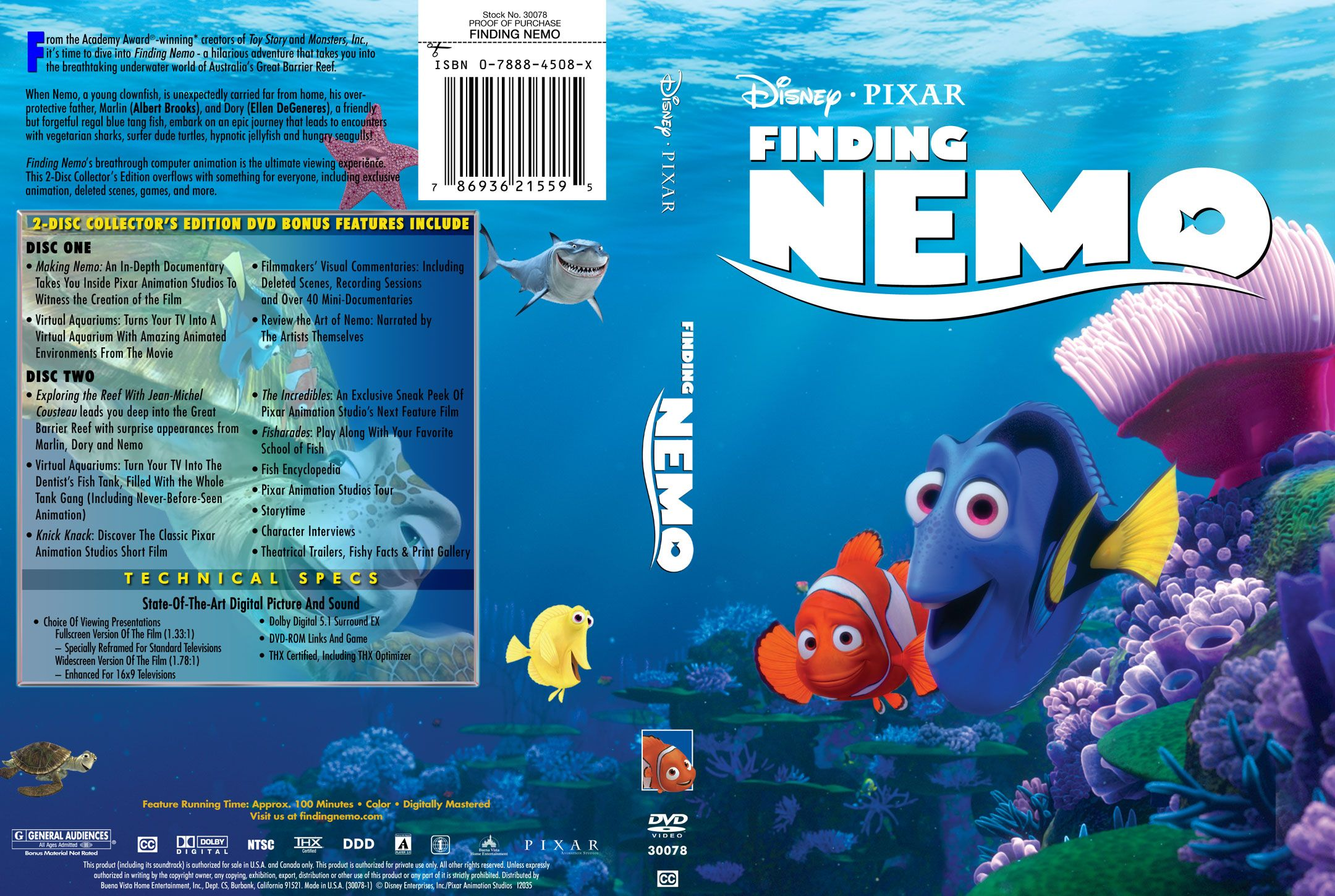 Finding Nemo R1 Cstm 3 Misc Dvd | DVD Covers | Cover ...