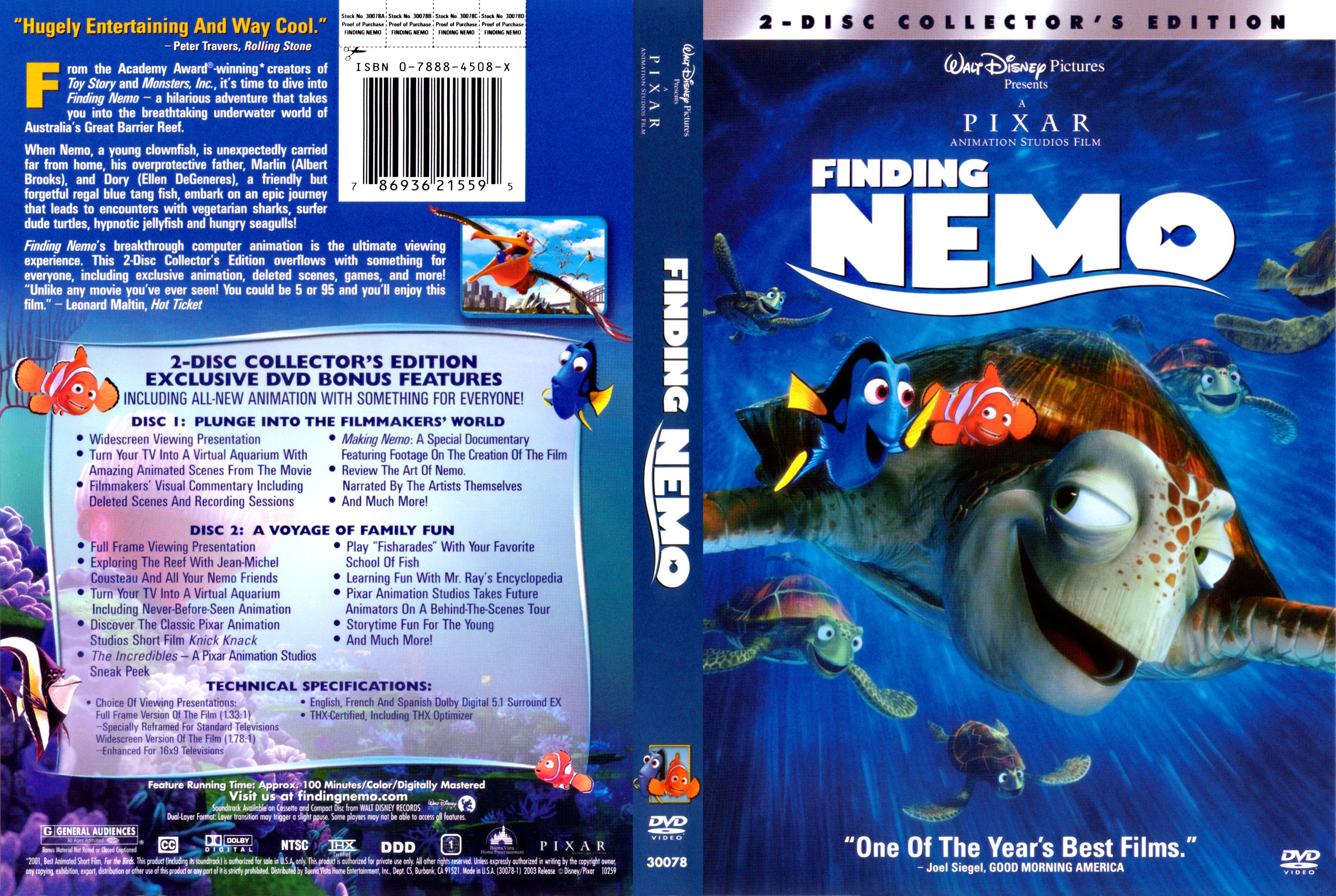 Finding Nemo R1 Scan Misc Dvd | DVD Covers | Cover Century ...