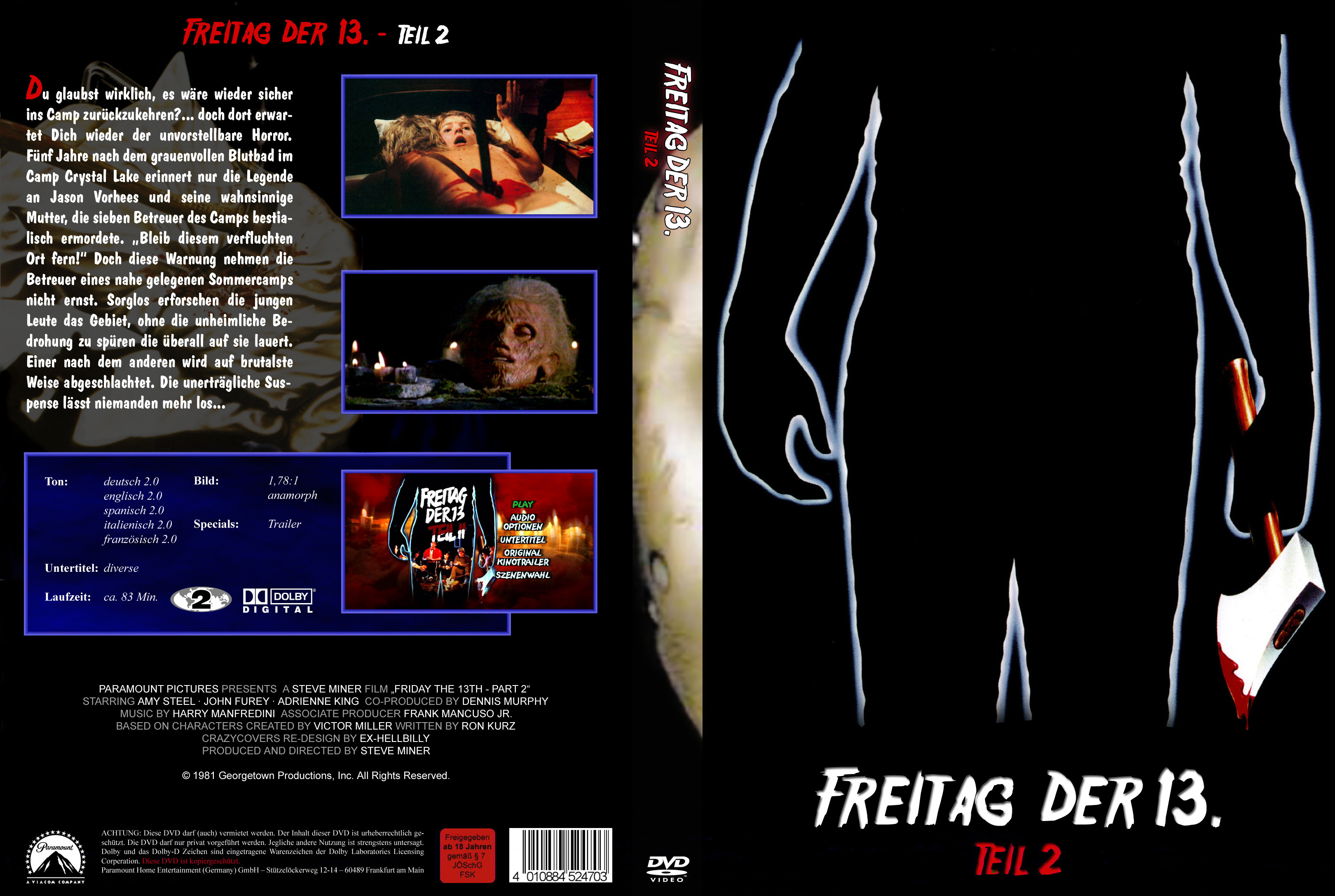Freitag Der 13 Teil 2 1 Dvd Covers Cover Century Over 500 000 Album Art Covers For Free