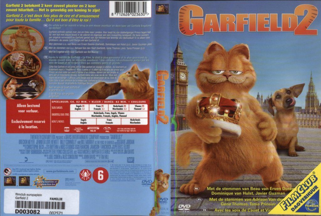 Garfield 2 Dvd Nl Dvd Covers Cover Century Over 500 000 Album Art Covers For Free